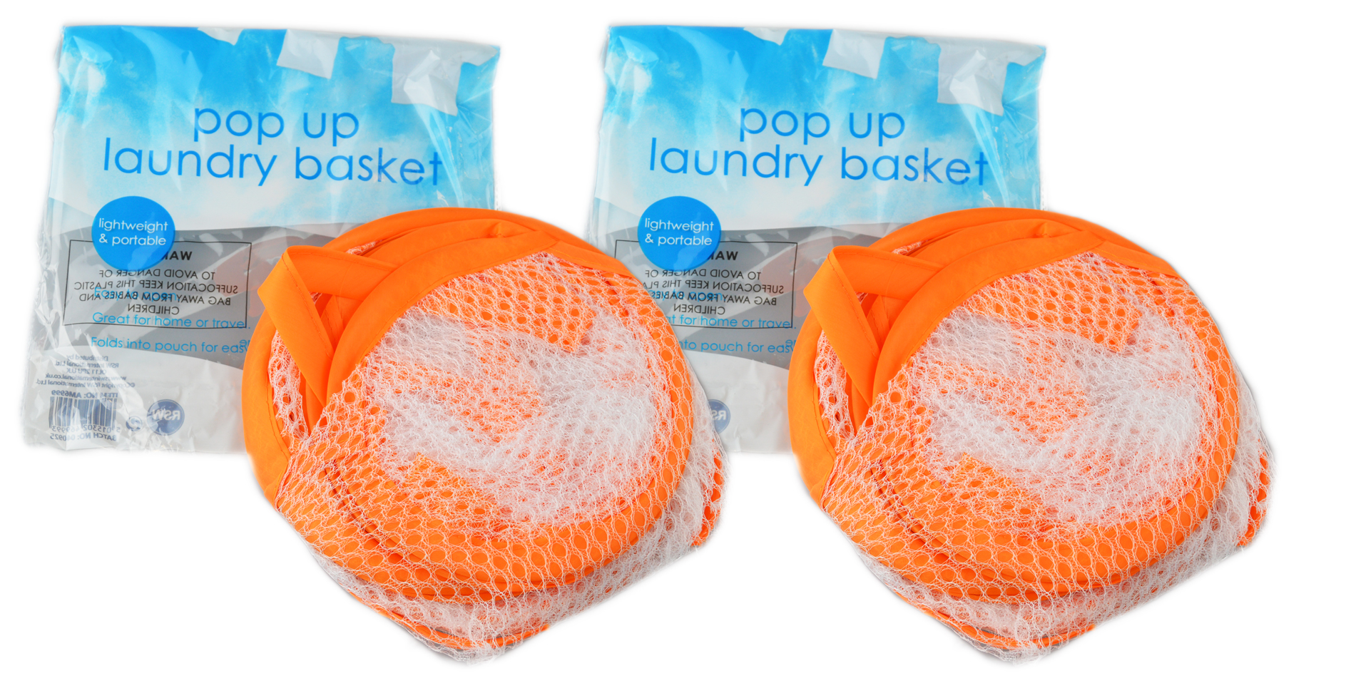 Folding-Mesh-Laundry-Basket-Ideal-for-Home-or-Travel-034-Royle-Home-034 thumbnail 13