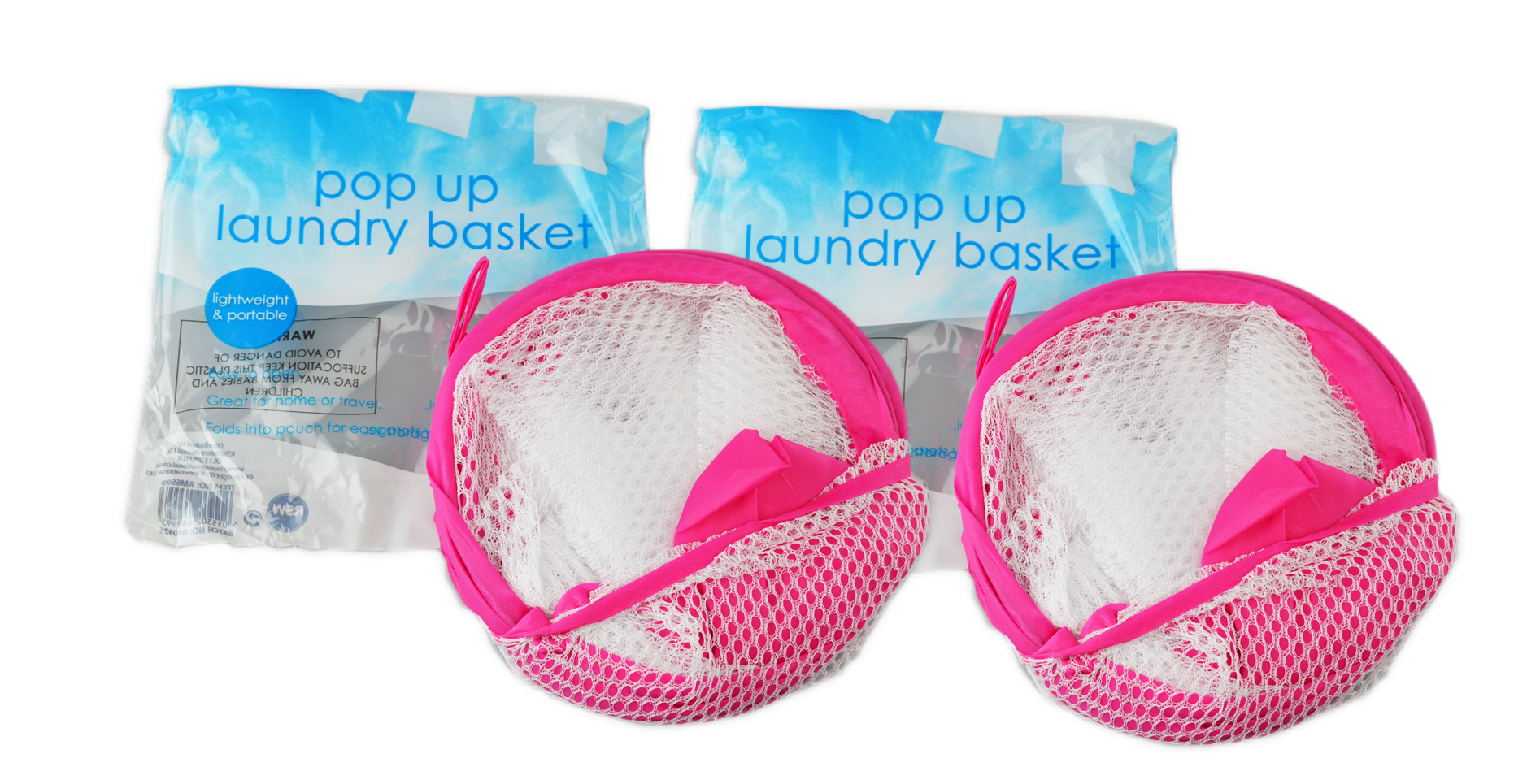 Folding-Mesh-Laundry-Basket-Ideal-for-Home-or-Travel-034-Royle-Home-034 thumbnail 15