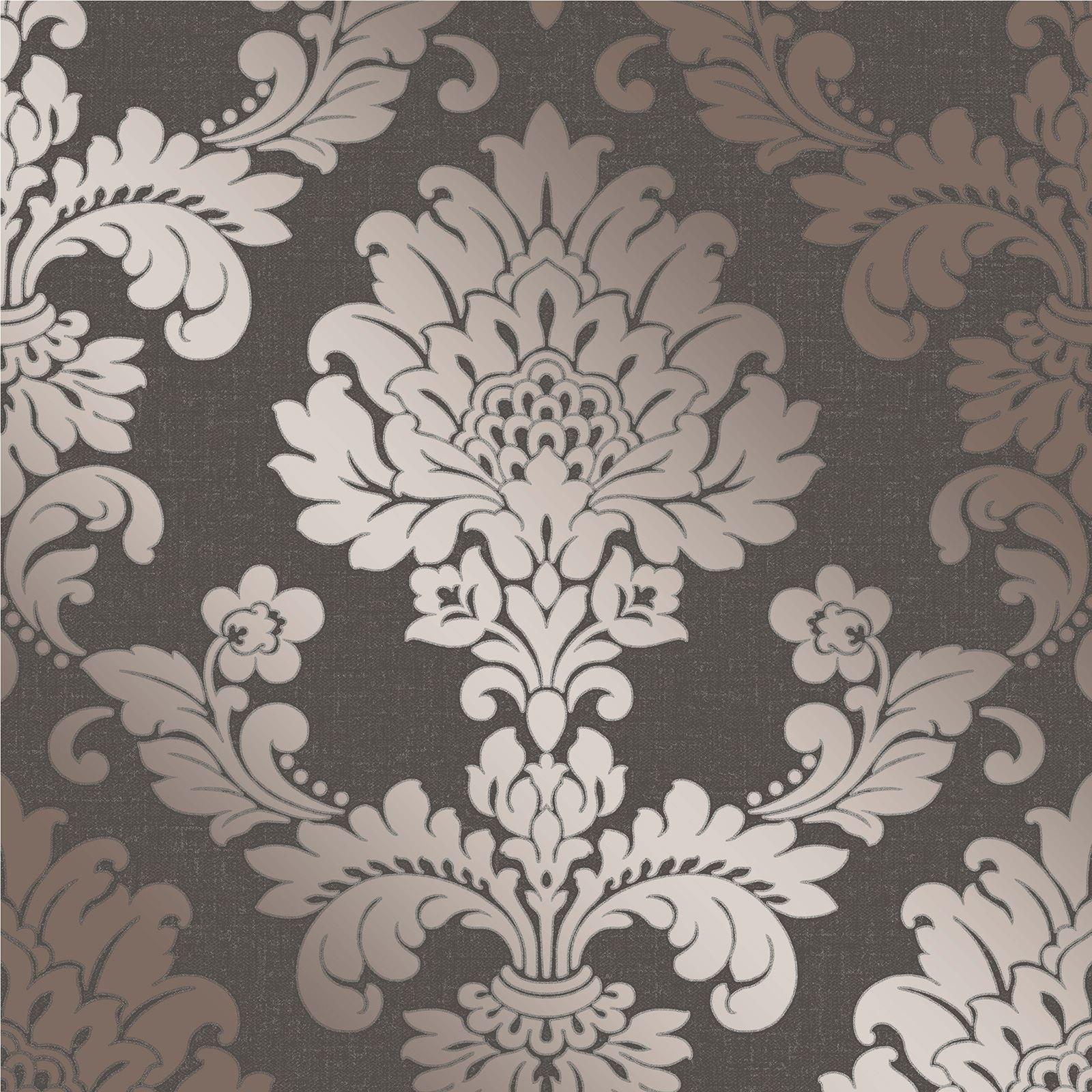 Fine Decor Quartz Damask Wallpaper Luxury Textured Vinyl Glitter 3 Colours