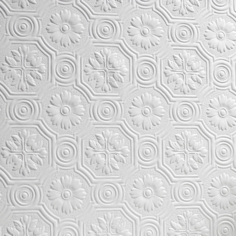 Flower Wallpaper Paintable Luxury Embossed Textured Vinyl