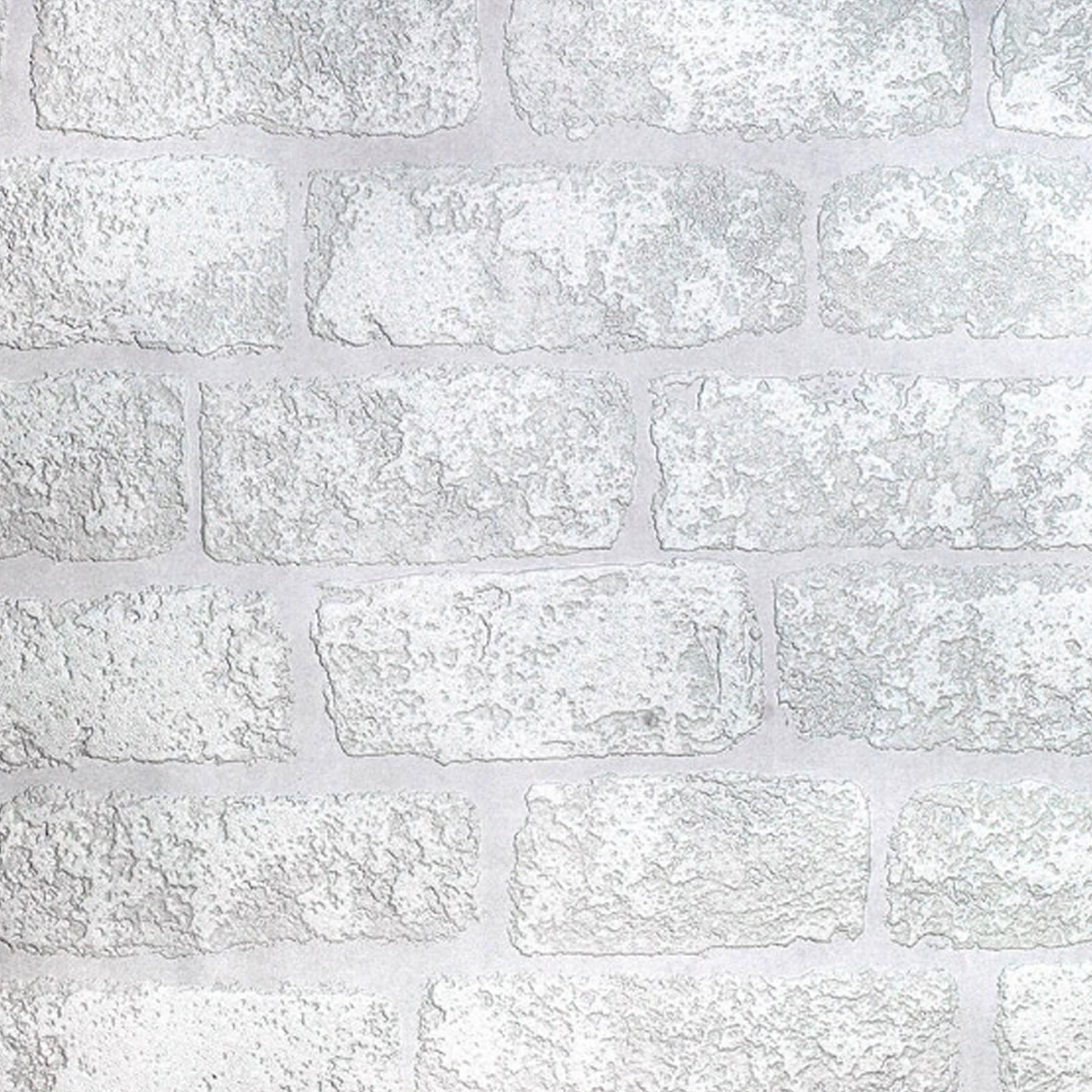 Paintable Wallpaper 3D Brick Effect Luxury Textured Vinyl ...