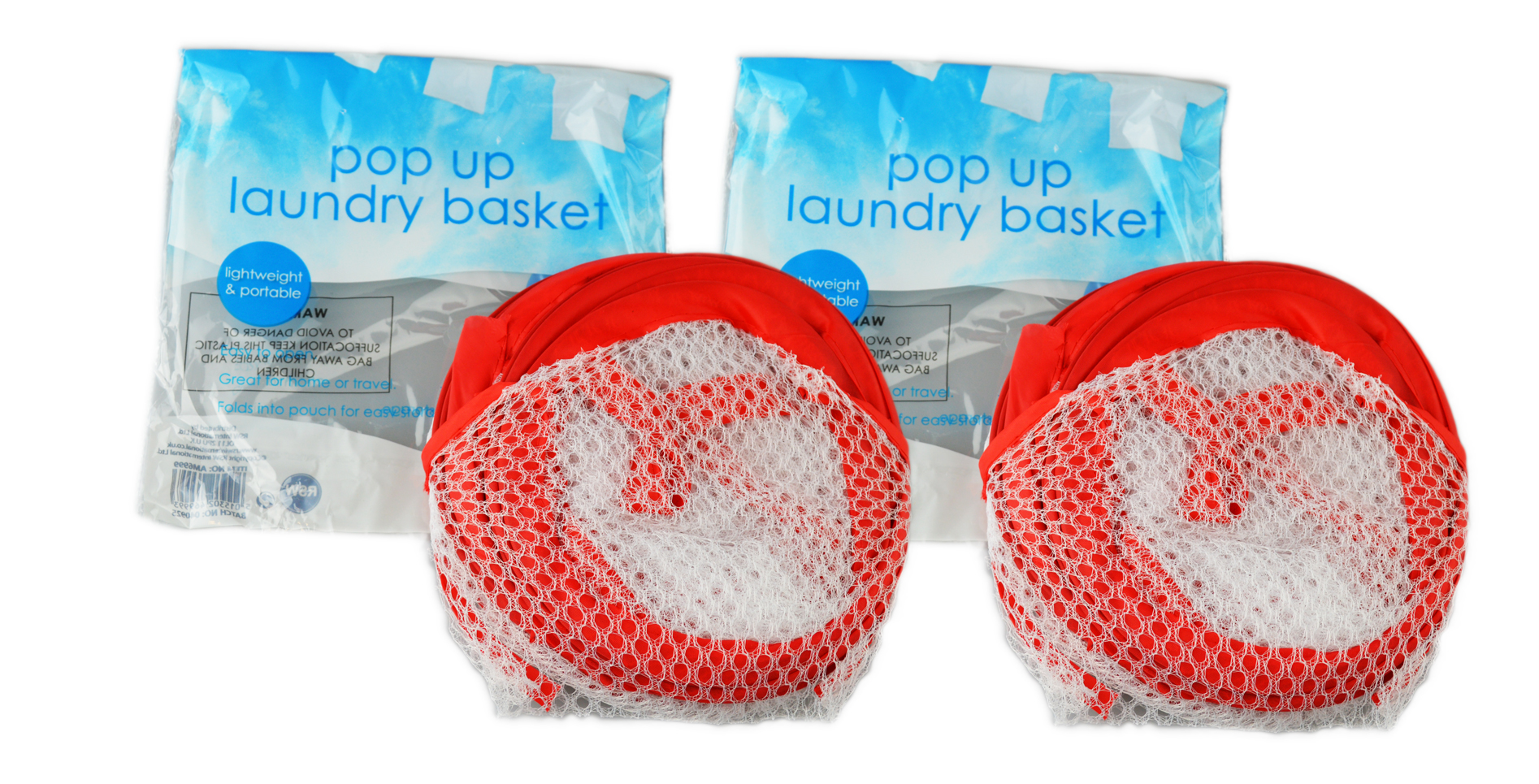 Folding-Mesh-Laundry-Basket-Ideal-for-Home-or-Travel-034-Royle-Home-034 thumbnail 17