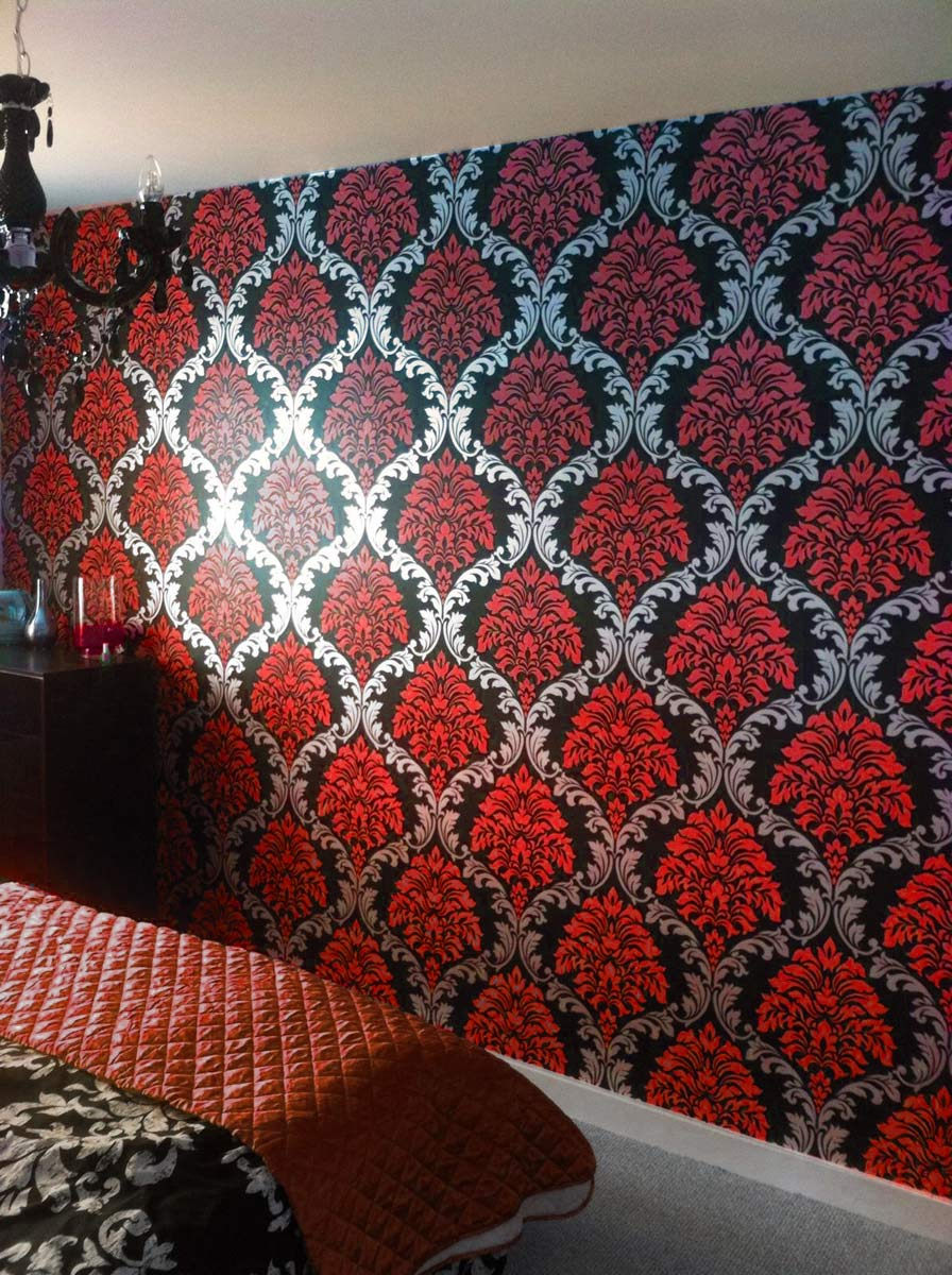 Red And Black Living Room Wallpaper Conceptstructuresllccom