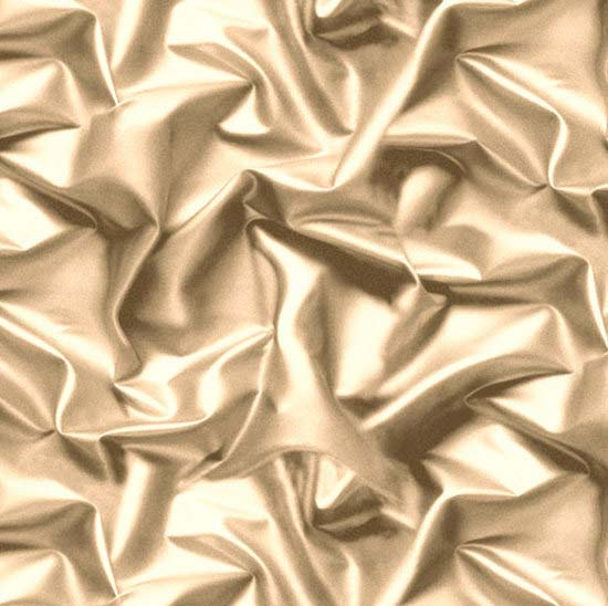 Muriva 3D Effect Velvet Silk Fabric Cream/Gold Crushed
