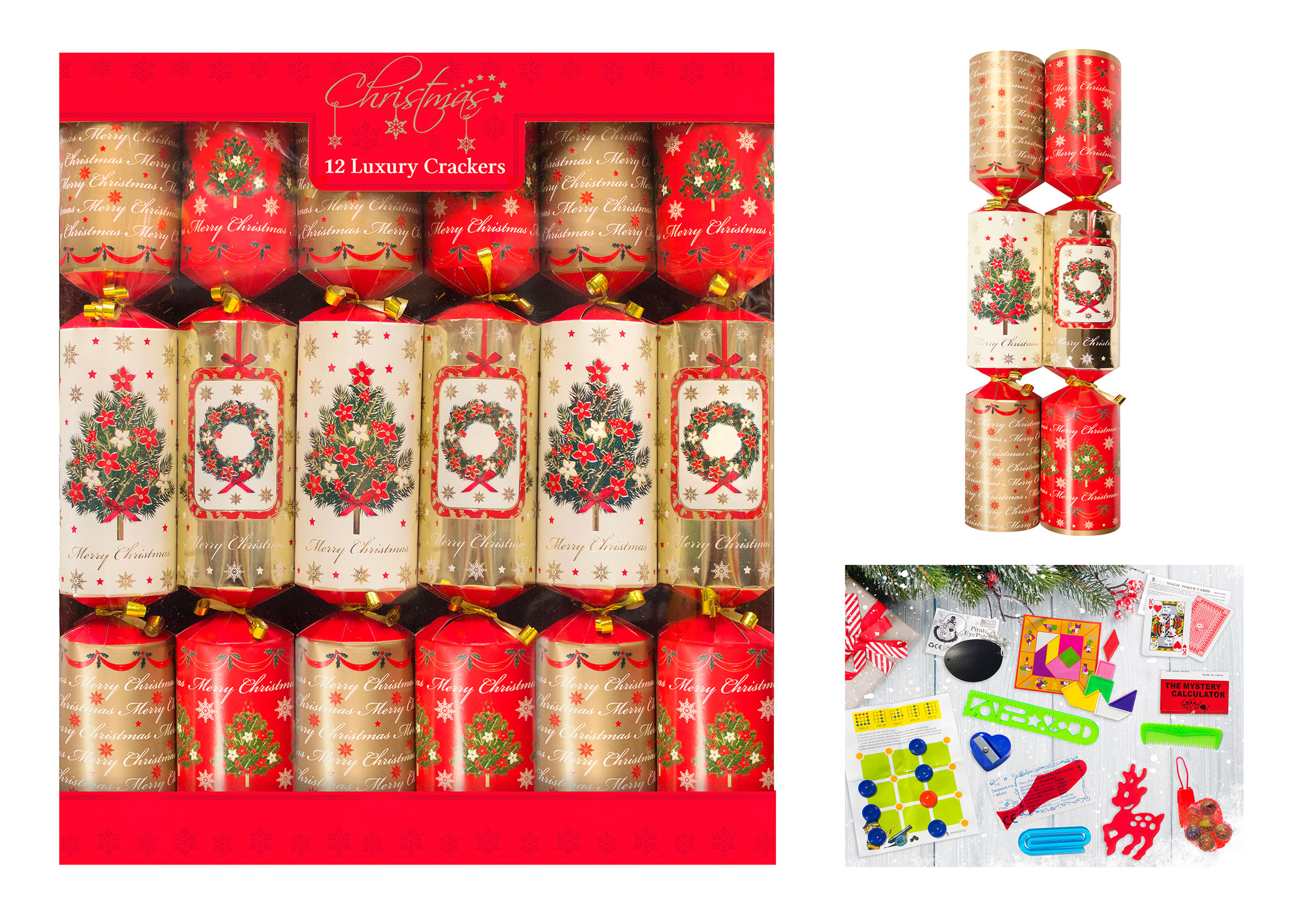 Christmas Crackers Box Of 12 Luxury Xmas Crackers