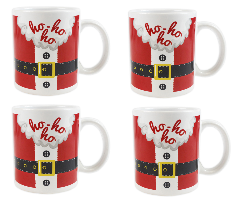Christmas Mugs.Details About Christmas Mugs Set Of 4 Festive Santa Elf Xmas Mugs Home Kitchen Tea Coffee Cups
