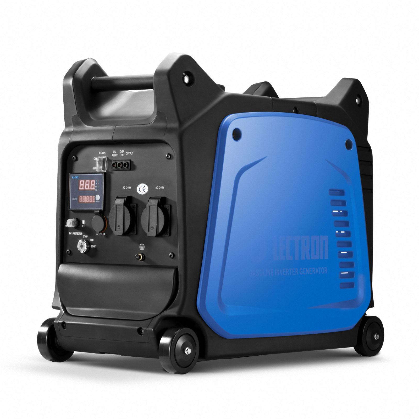 GenTrax Inverter Generator 3.5KW Max 12v Remote Start Portable Petrol Camping 3