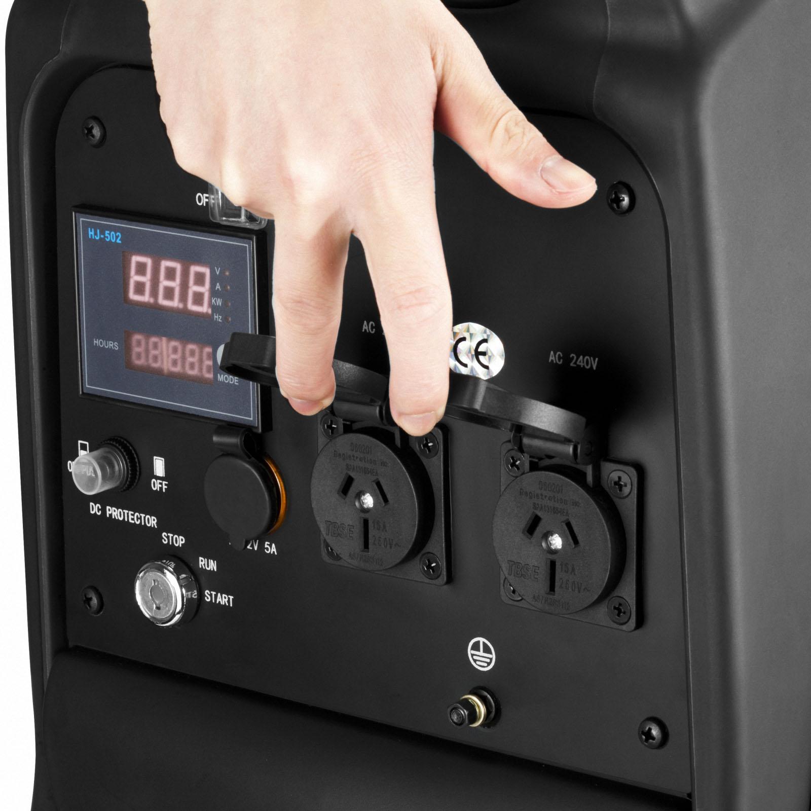 GenTrax Inverter Generator 3.5KW Max 12v Remote Start Portable Petrol Camping 8