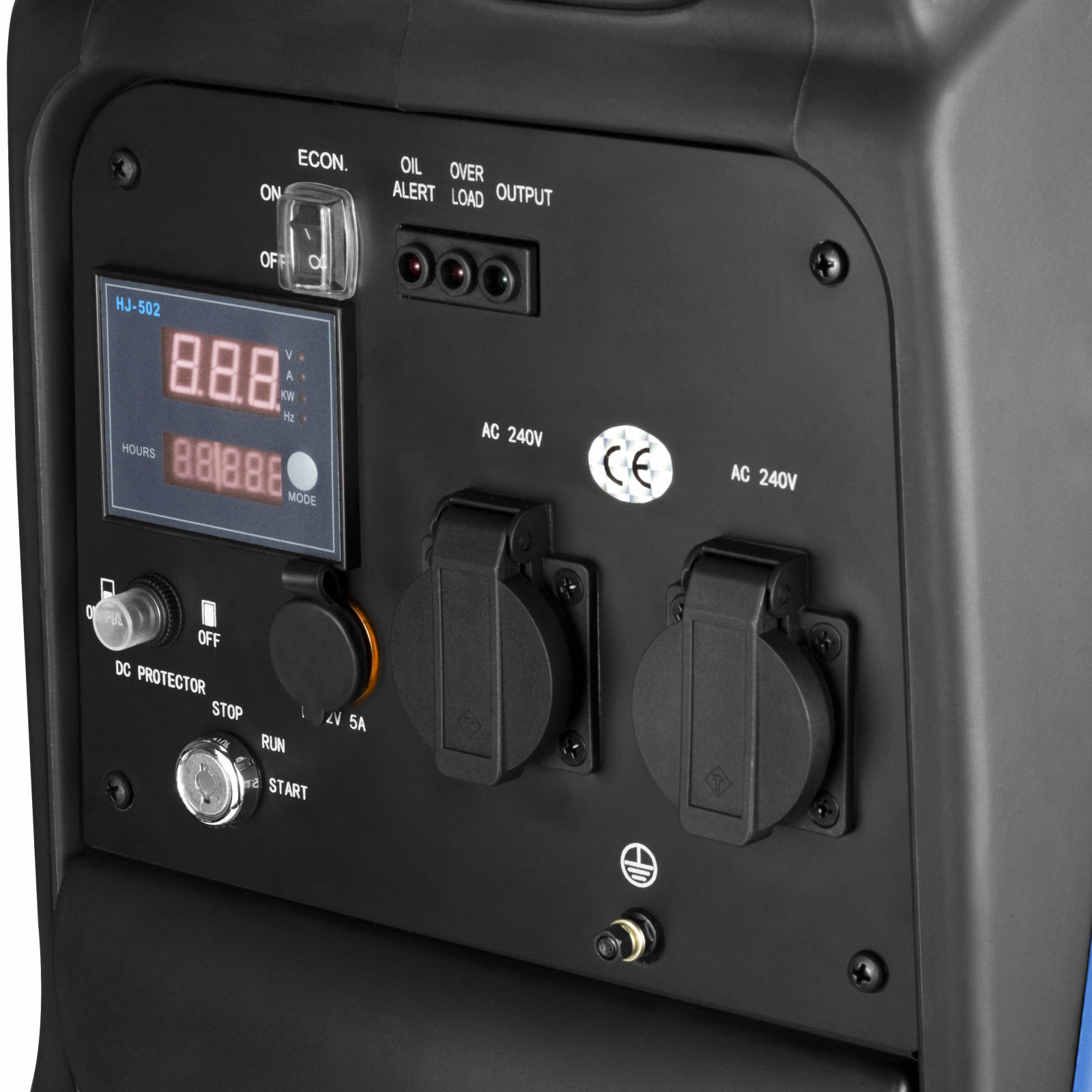 GenTrax Inverter Generator 3.5KW Max 12v Remote Start Portable Petrol Camping 9