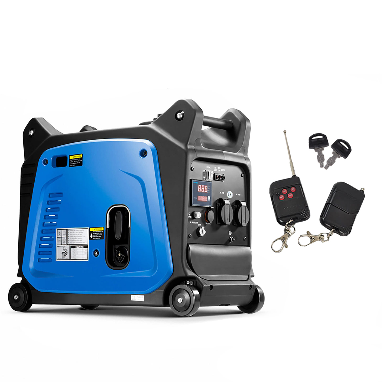 GenTrax Inverter Generator 3.5KW Max 12v Remote Start Portable Petrol Camping