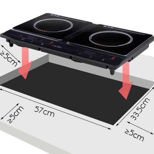 brand new 5 star chef induction cooktop electric portable duo camping caravan ebay. Black Bedroom Furniture Sets. Home Design Ideas
