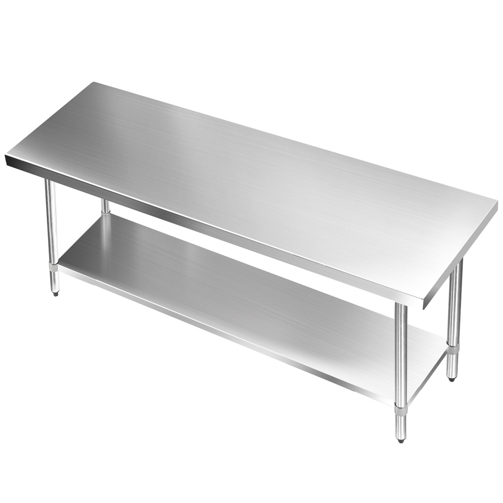Stainless Steel Kitchen Work Table: 304 Stainless Steel Kitchen Work Bench Table 1829mm