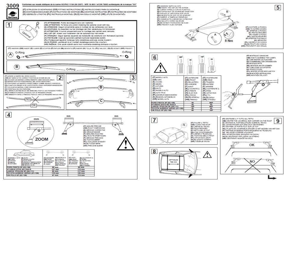 Roof Bars //Rack Hyundai Atos 5DR 98-08 No Rails 5009