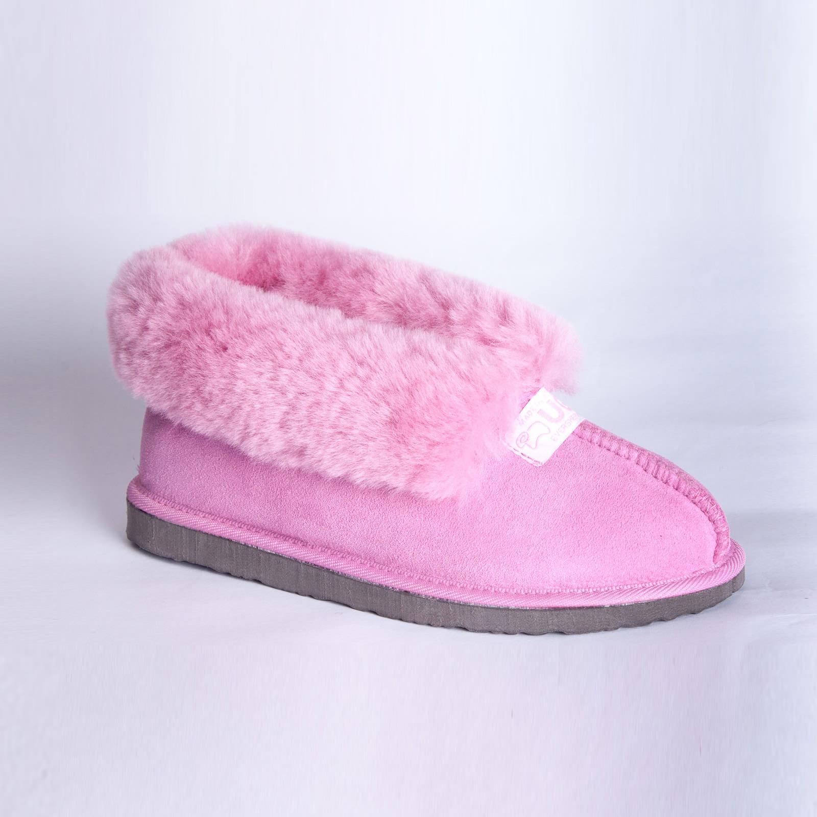 New Ugg Boots Australian Sheepskin Lady Mallow Slipper Pink Size M 9349788001917 | eBay