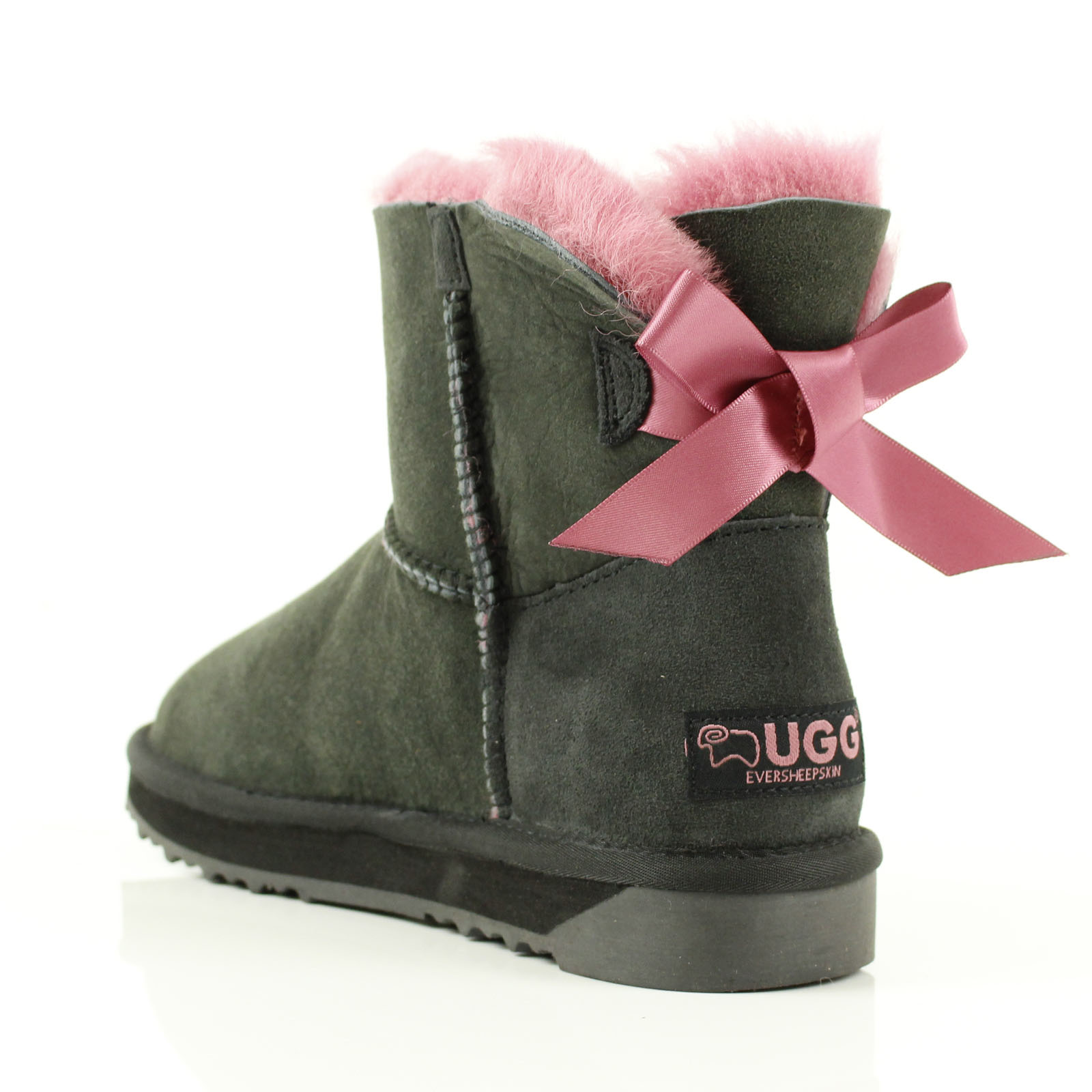 Details about UGG BOOTS NEW 100% Australian Sheepskin Women Mini Back Bow Fruit 3 colours