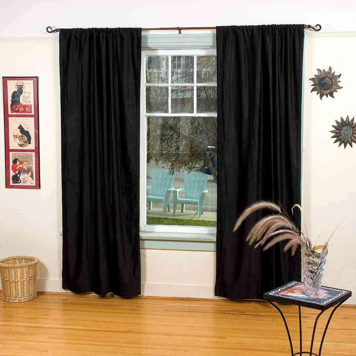 Blackout   Theater   Curtain   Velvet   Black   Home