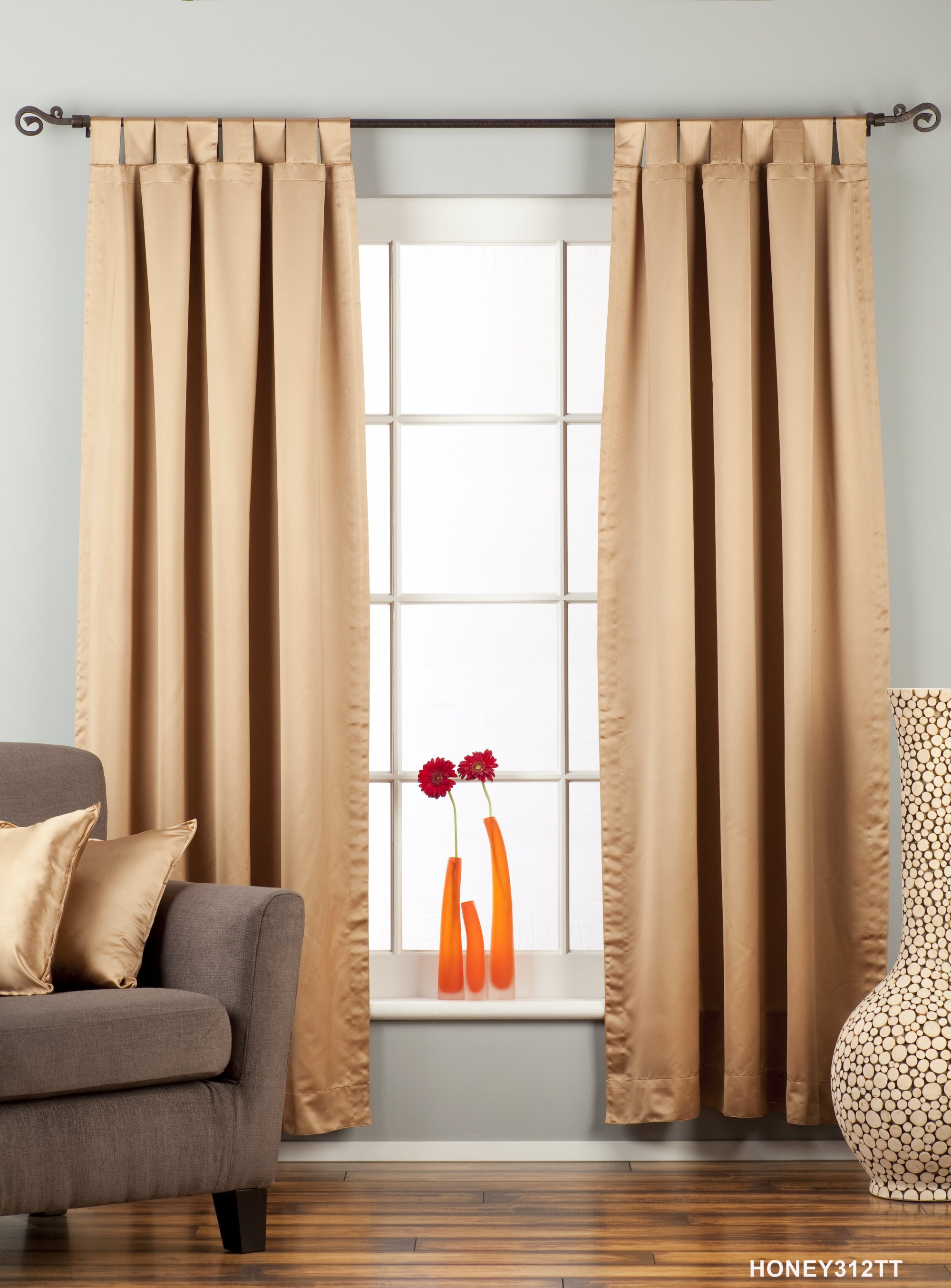 Blackout   Curtain   Taupe   Piece   Top
