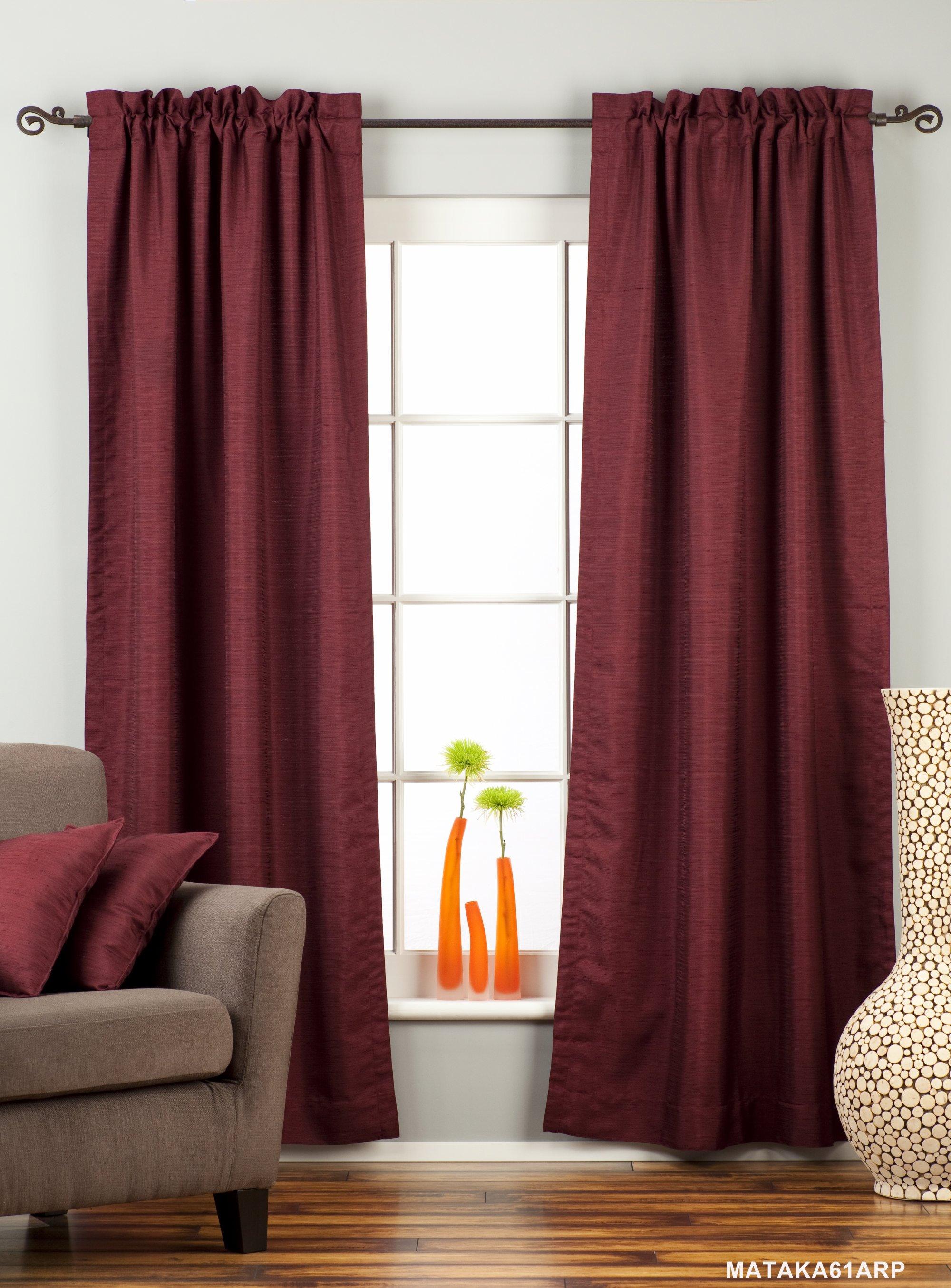 Burgundy Curtains for Living Room | Roy Home Design