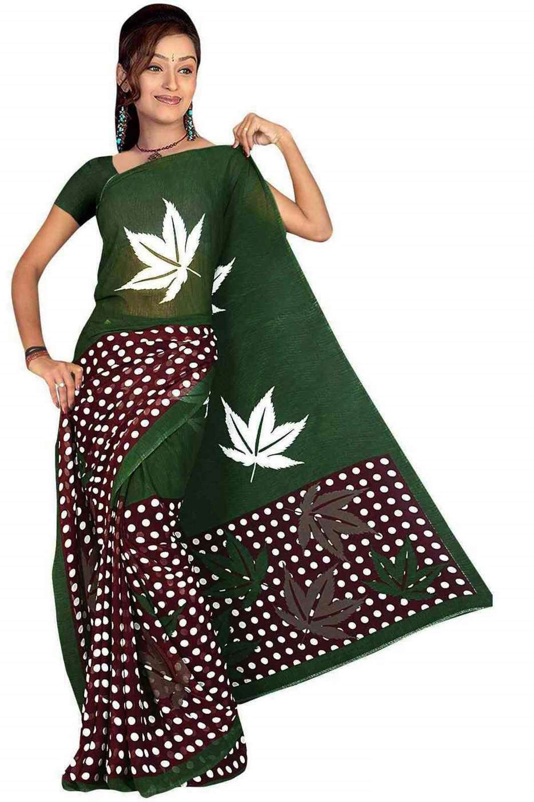 Chahna Georgette Printed Casual Saree Sari Bellydance fabric