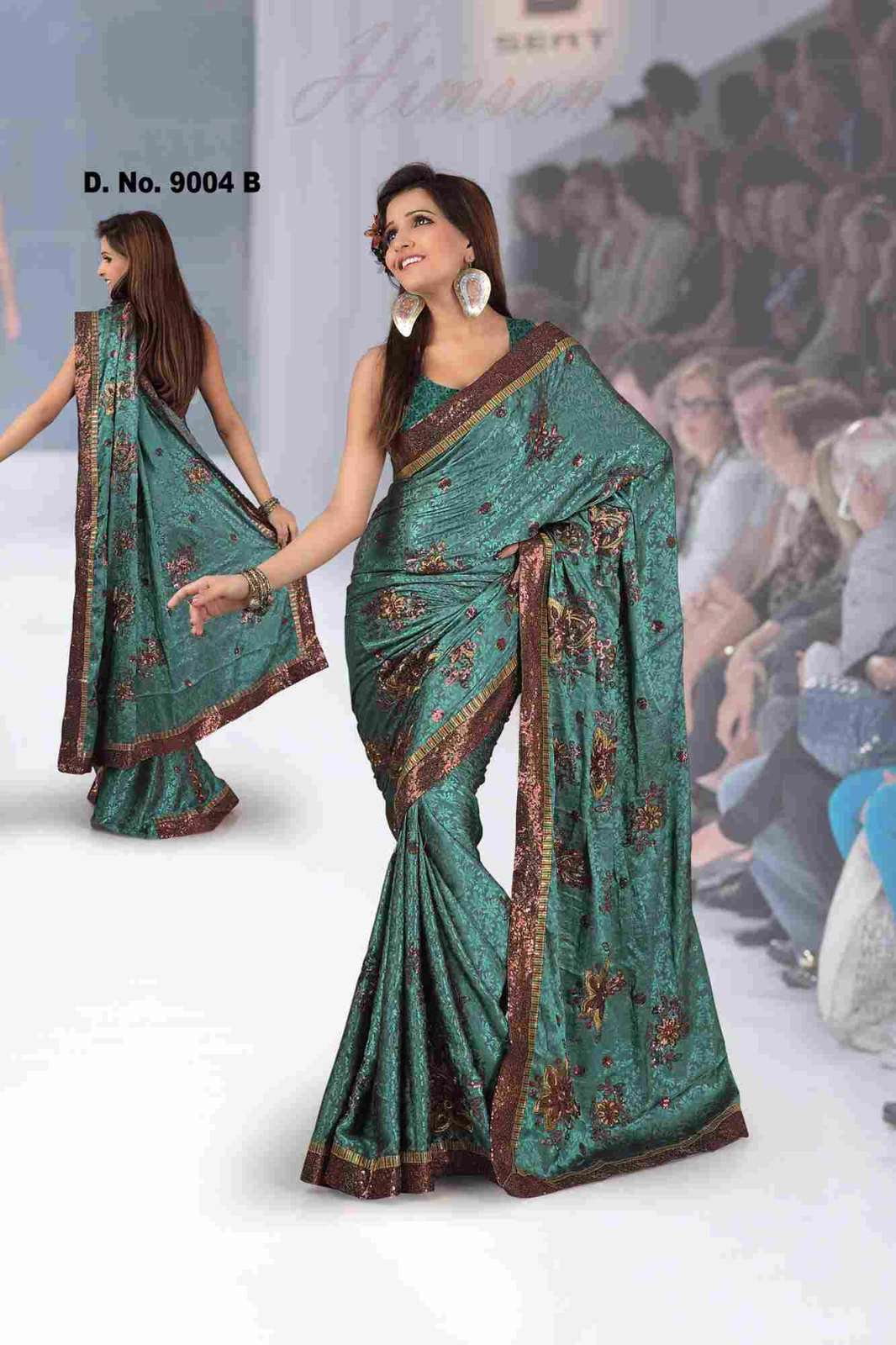 Aastha Fancy festival wear designer Georgette Sari with sequence work