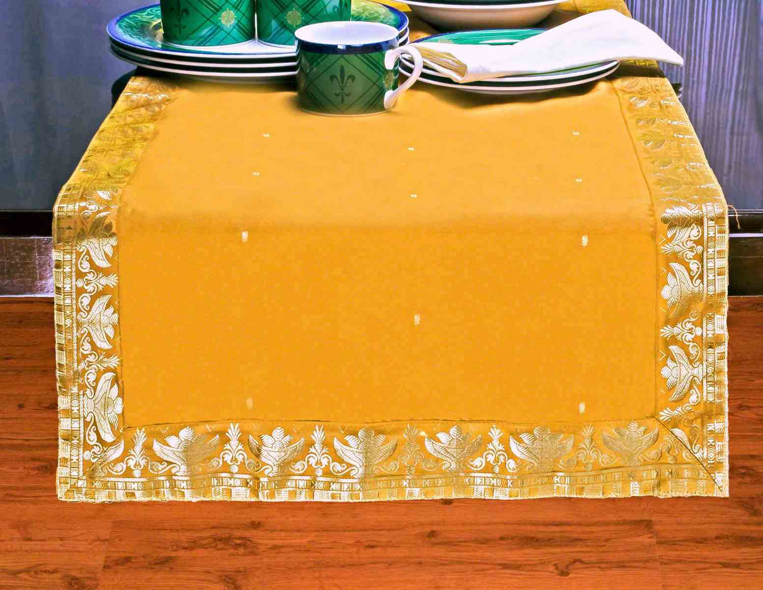 Pumpkin - Hand Crafted Table Runner (India) - 18 X 108 Inches