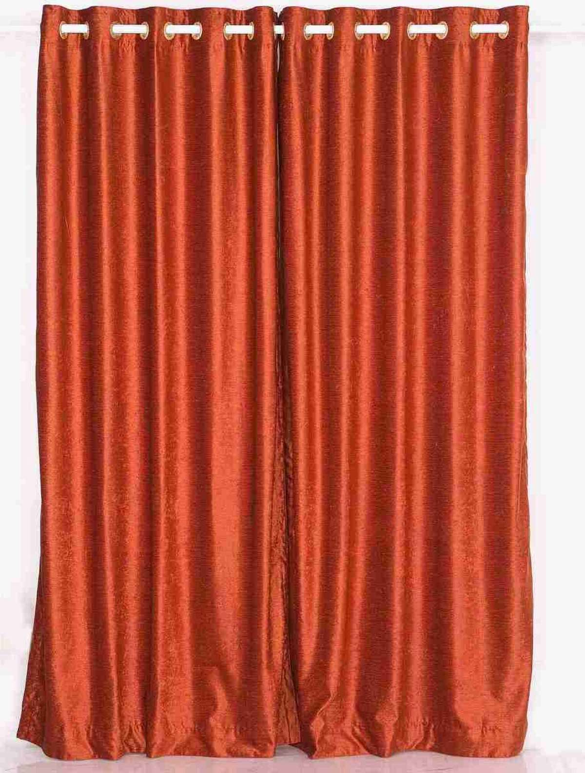 Curtain | Velvet | Piece | Rust | Ring | Top