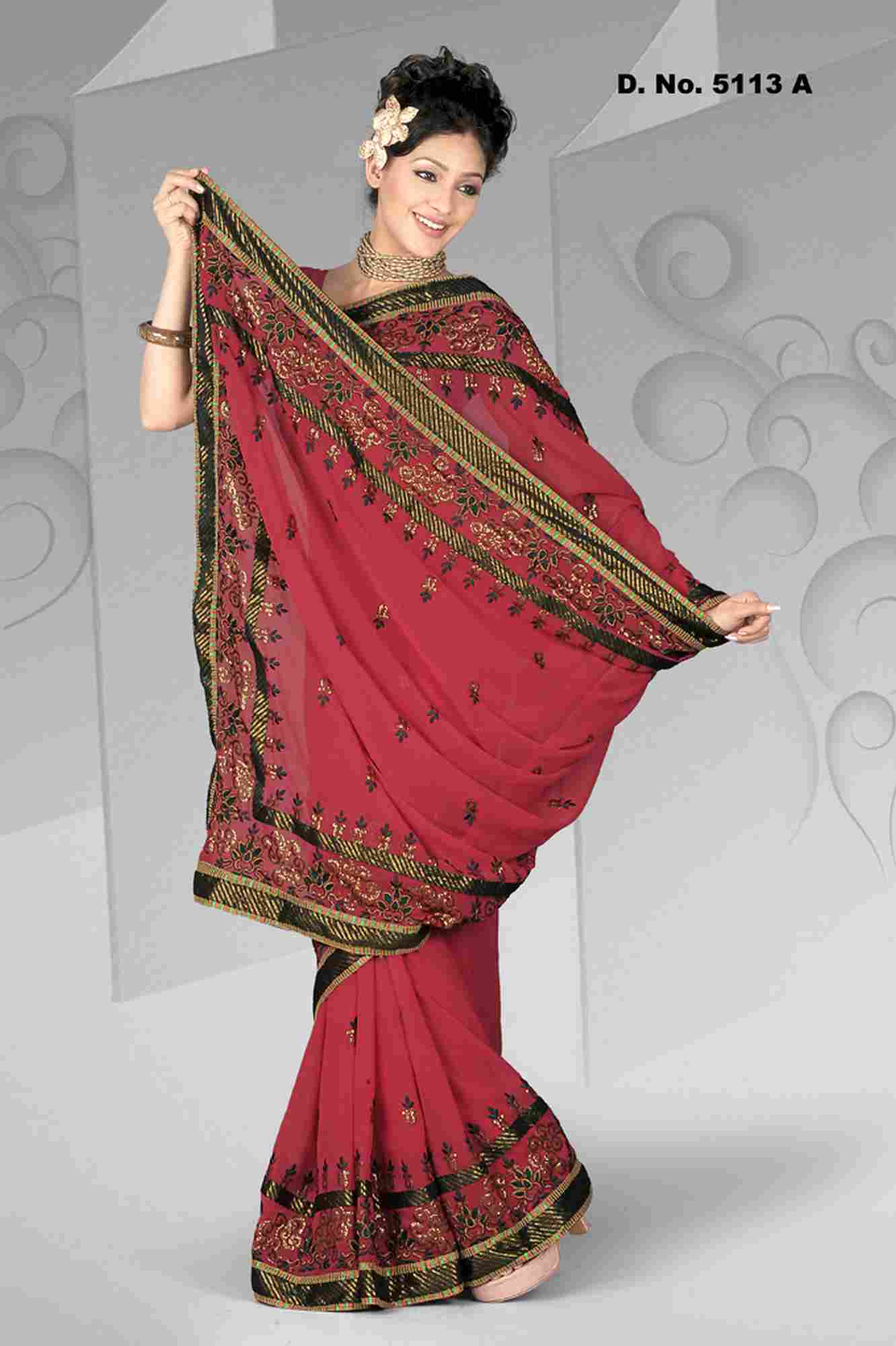 Atula Evening Party Wear Georgette Sari