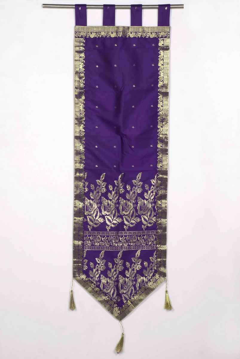 Purple-Handmade Wall hanging Wall decor Tapestry with Tassels-18 X 90 Inches