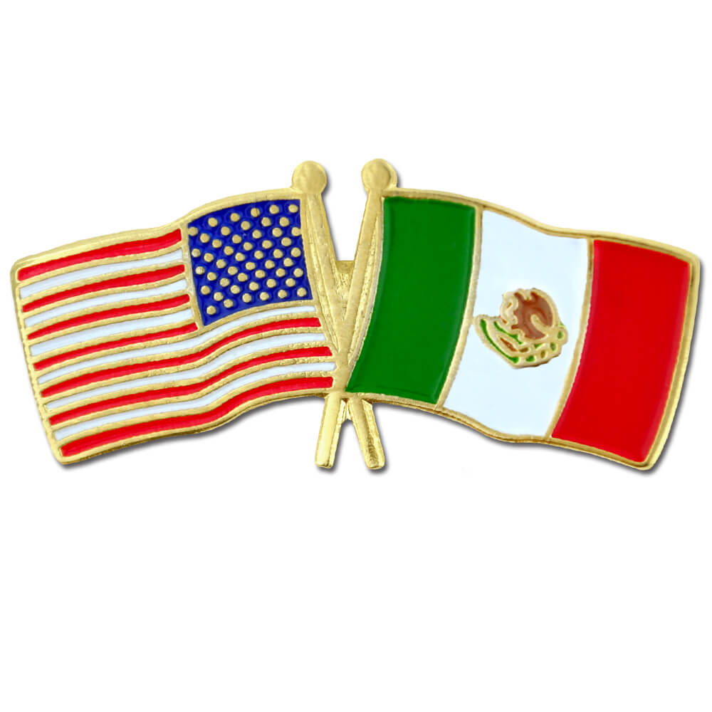 PinMart/'s USA and Vatican City Crossed Friendship Flag Enamel Lapel Pin