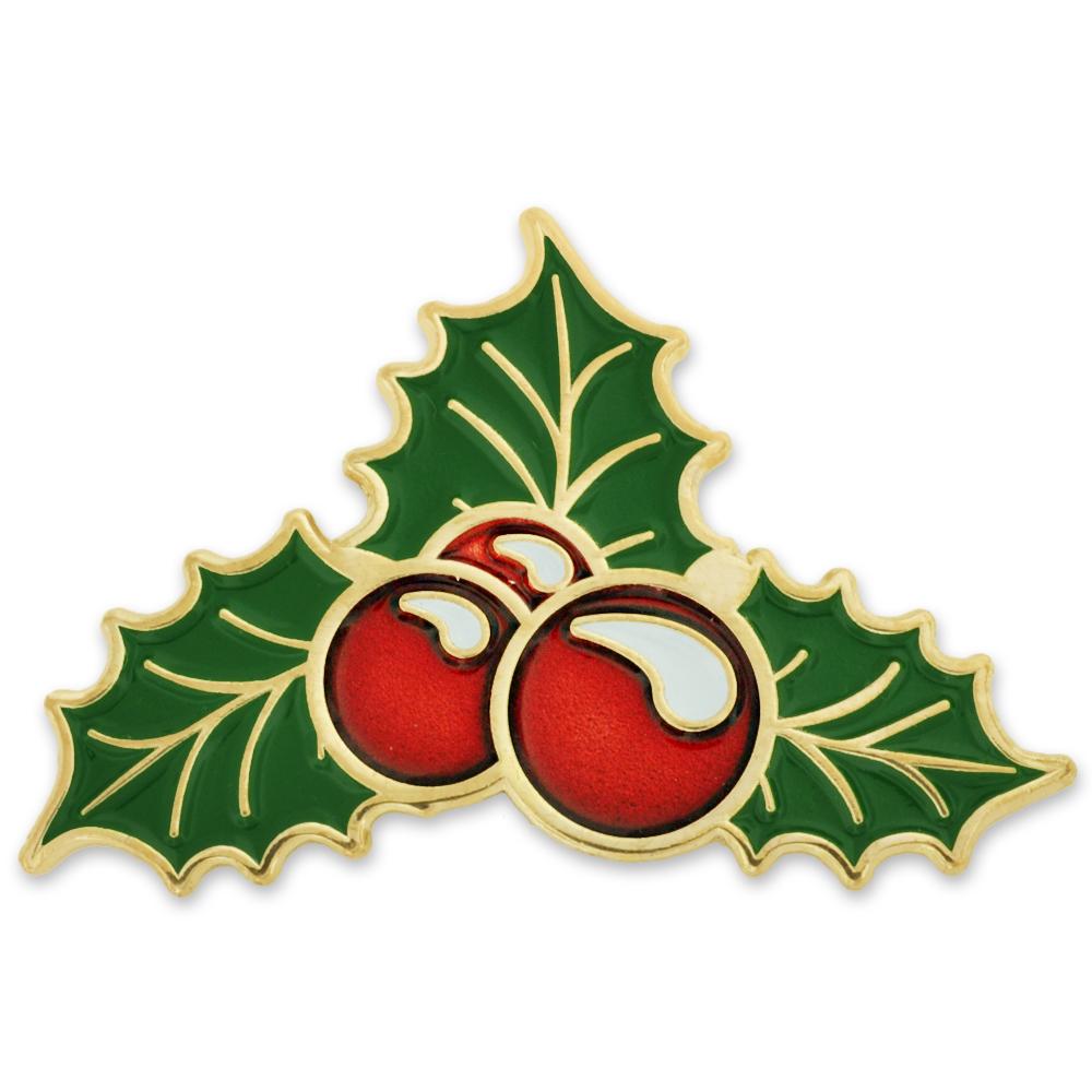 Pinmarts Christmas Holly Berry Xmas Mistletoe Holiday Lapel Pin Ebay