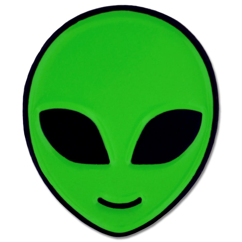 PinMart's Green Alien Head Sci-Fi Enamel Lapel Pin | eBay