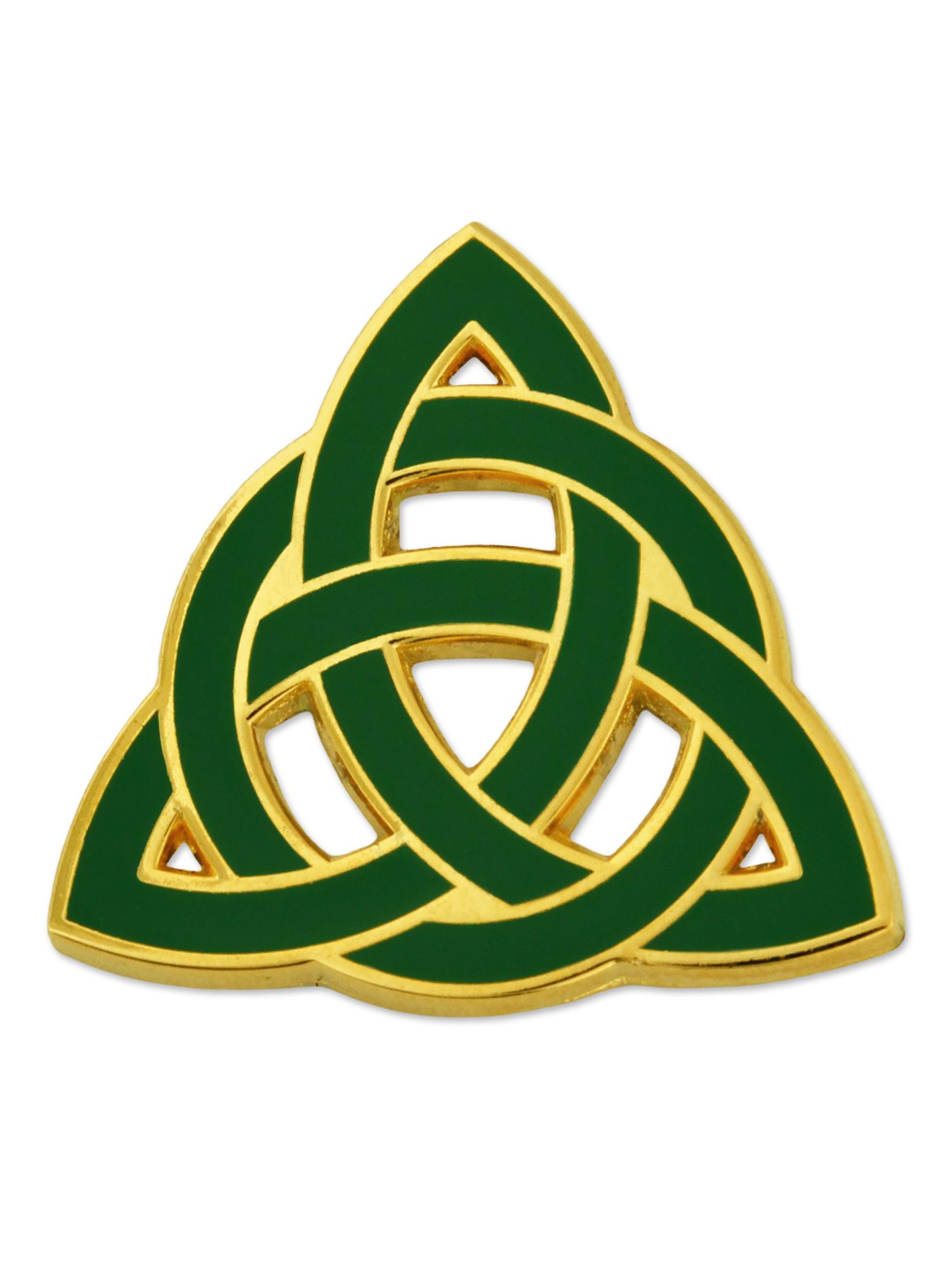 PinMart Green Camouflage Star Military Enamel Lapel Pin