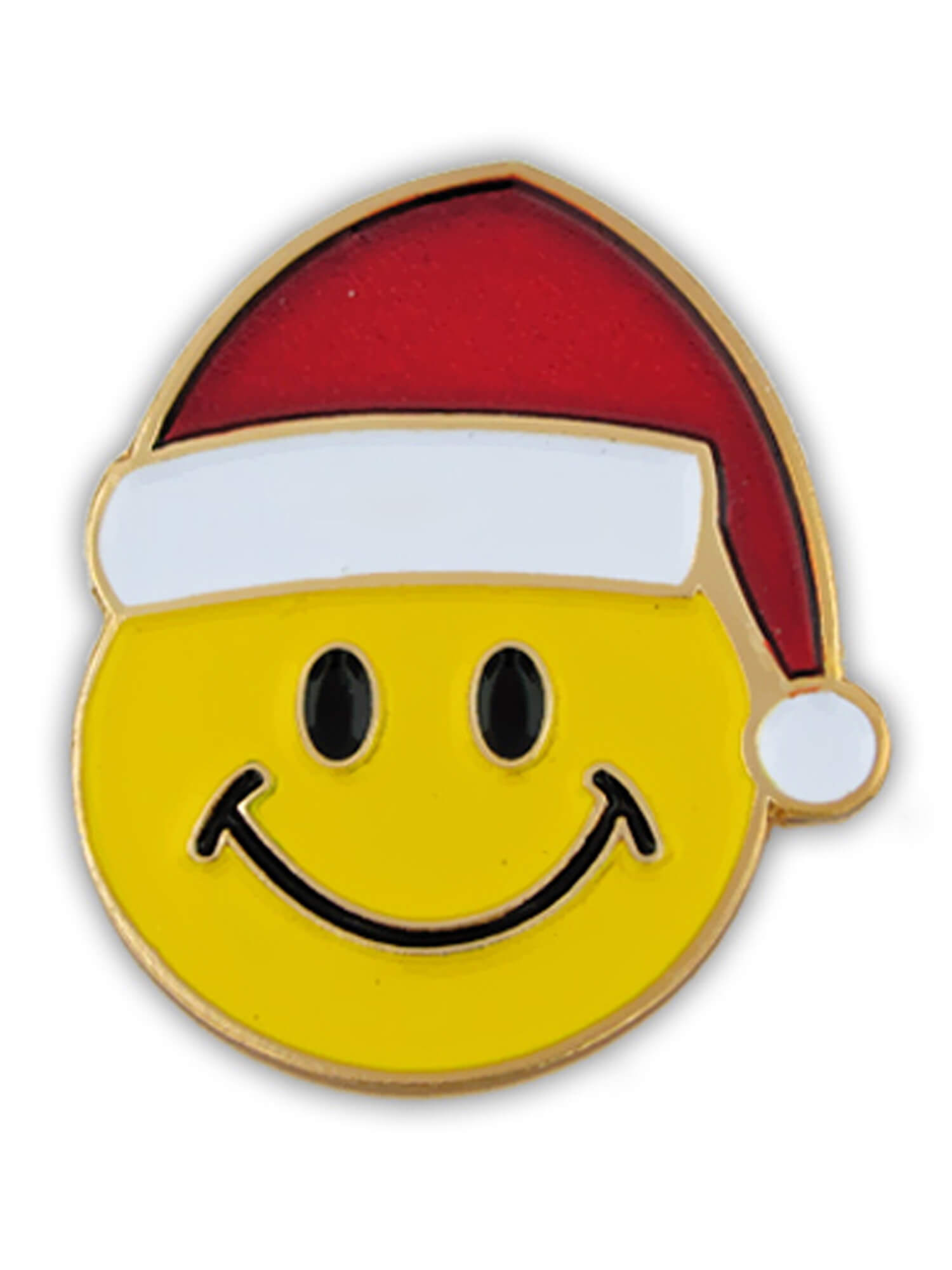 PinMart Santa Face Christmas Holiday X-Mas Brooch Enamel Lapel Pin