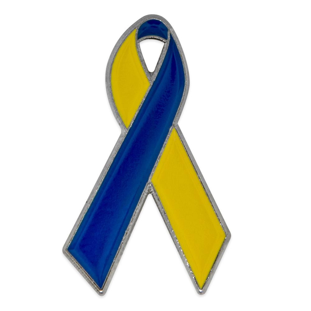 PinMart/'s Child Abuse Awareness Blue Heart Ribbon Enamel Lapel Pin Set