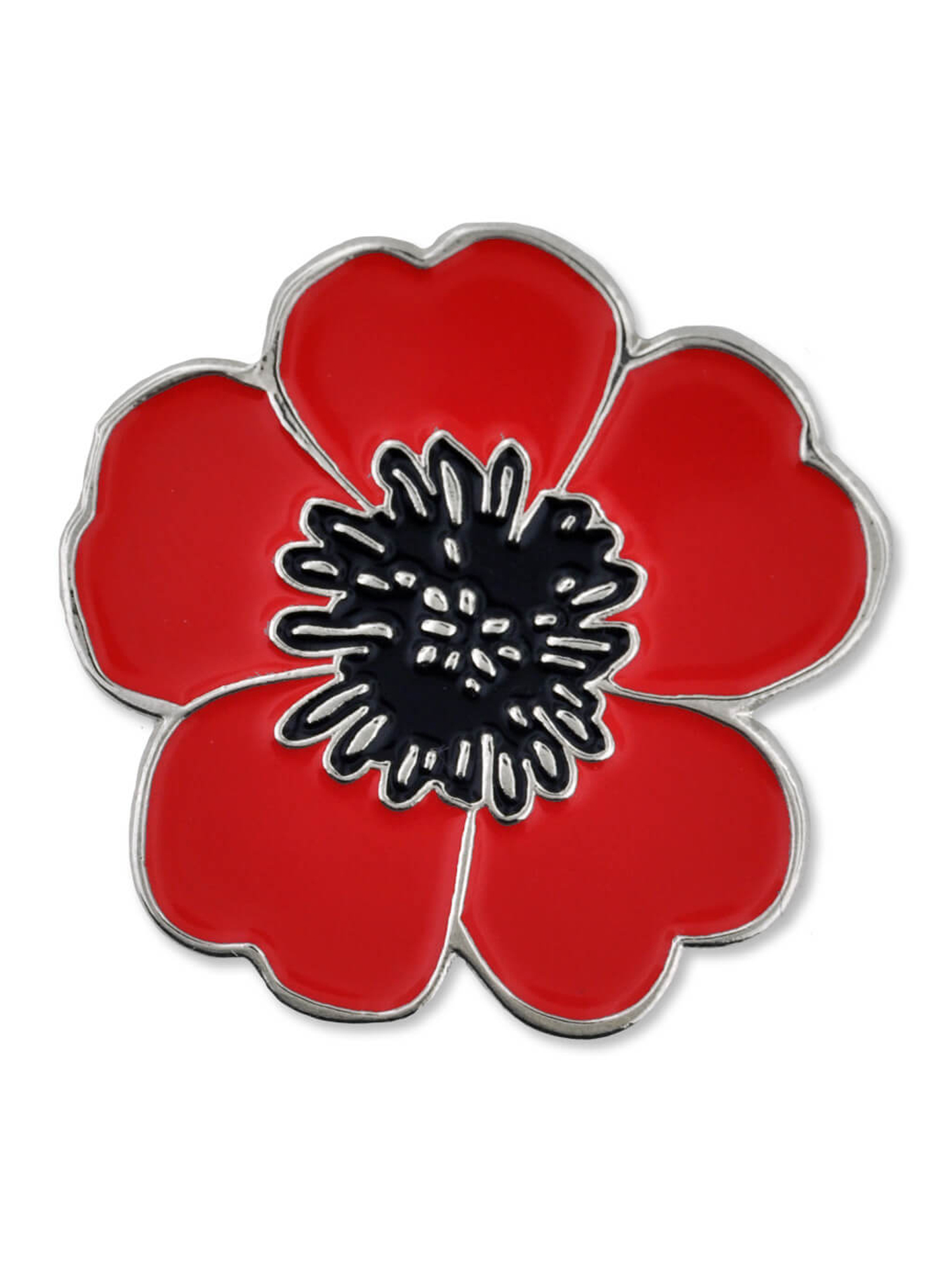 Pinmarts Red Poppy Flower Remembrance Memorial Day Lapel Pin W