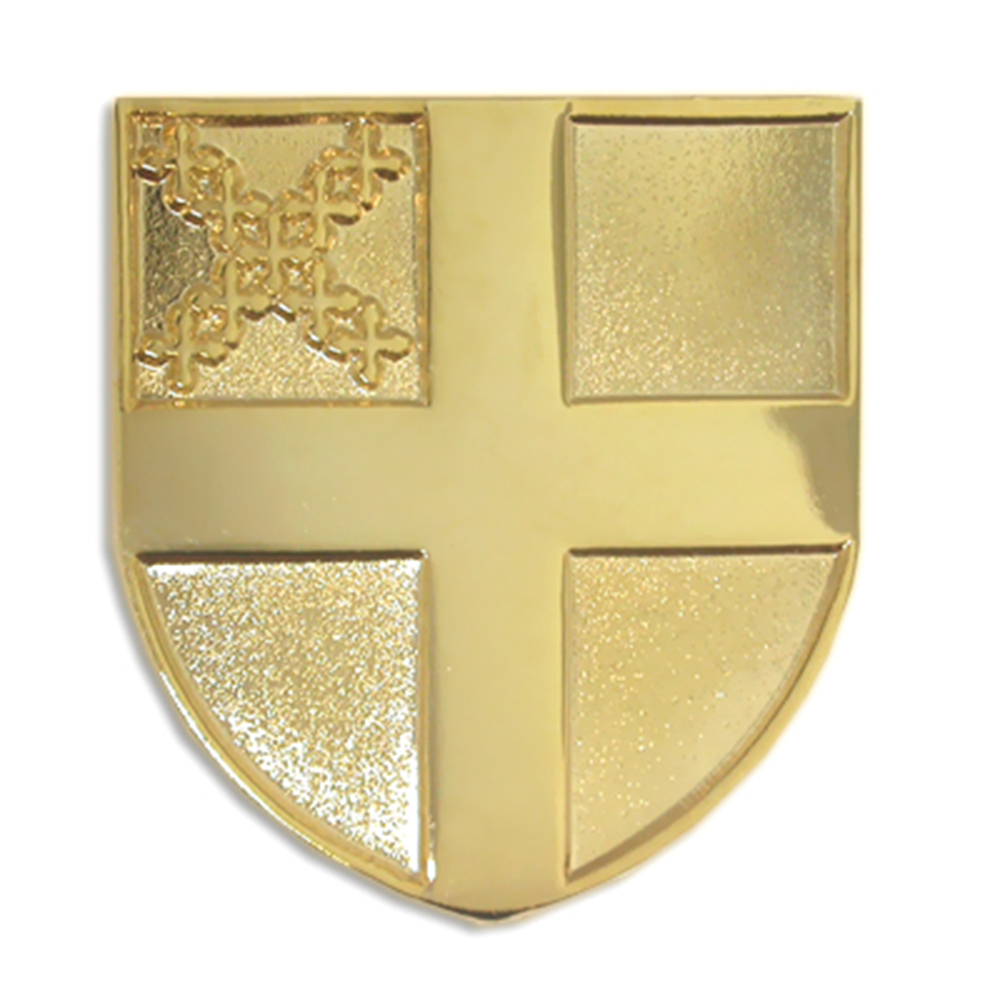 PinMart Gold Plated Eastern Orthodox Patriarchal Cross Religious Lapel Pin