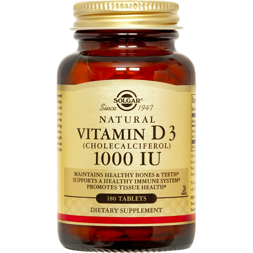 solgar vitamin d3 cholecalciferol 1000 iu 180 tabs ebay. Black Bedroom Furniture Sets. Home Design Ideas