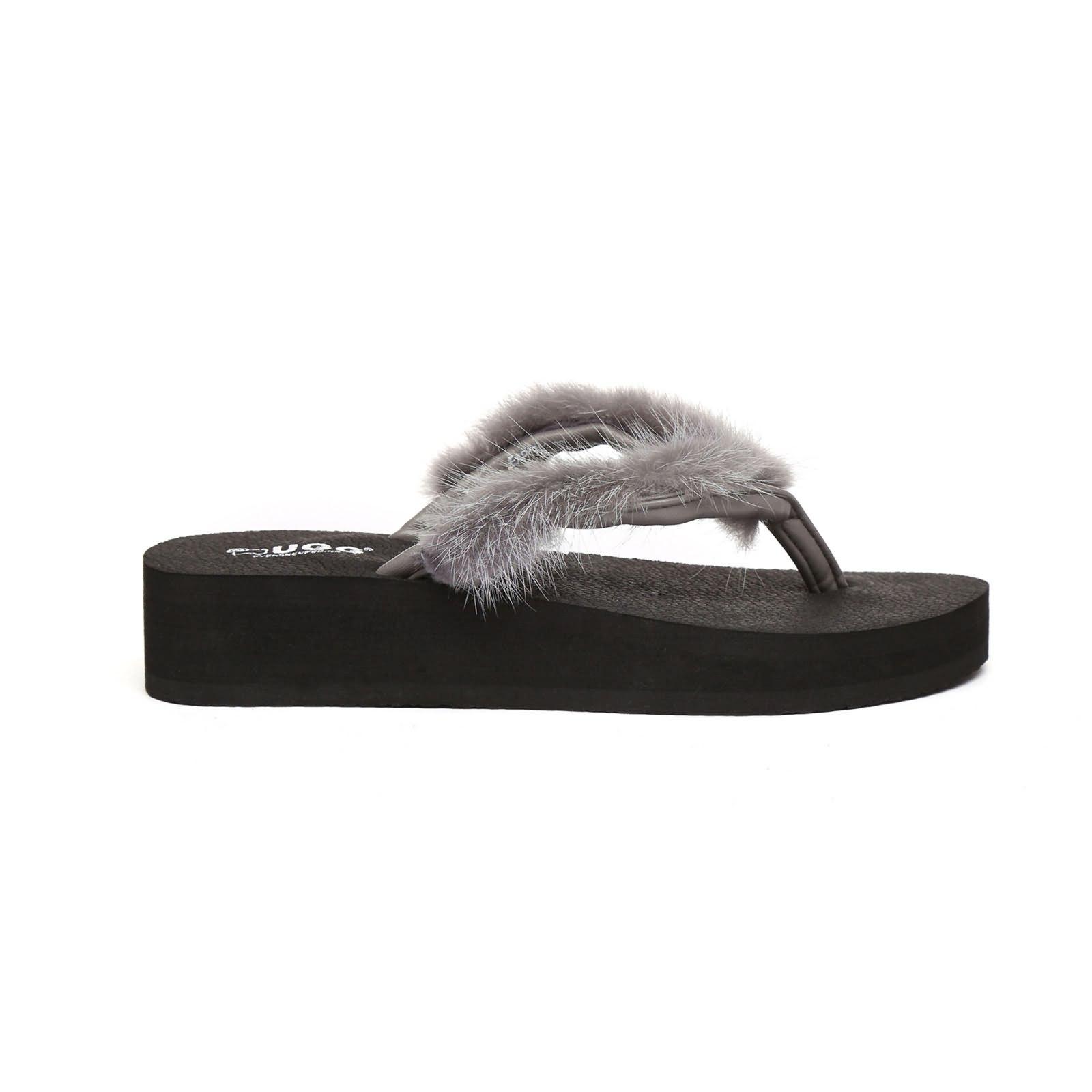 1c828890852b UGG Faye Women Comfort Fashion Wedge Platform Thongs Flip Flops Slippers  Sandals .