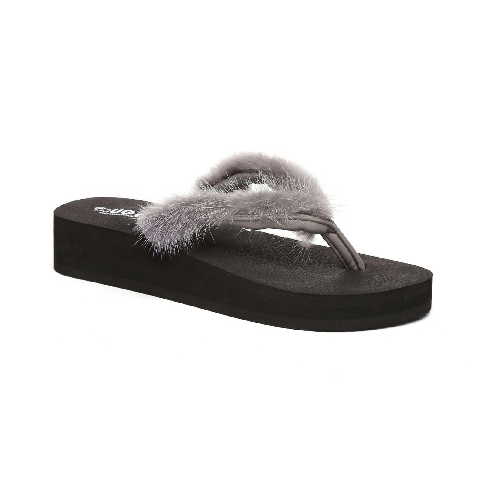 9a1ab254751e UGG Faye Women Comfort Fashion Wedge Platform Thongs Flip Flops ...