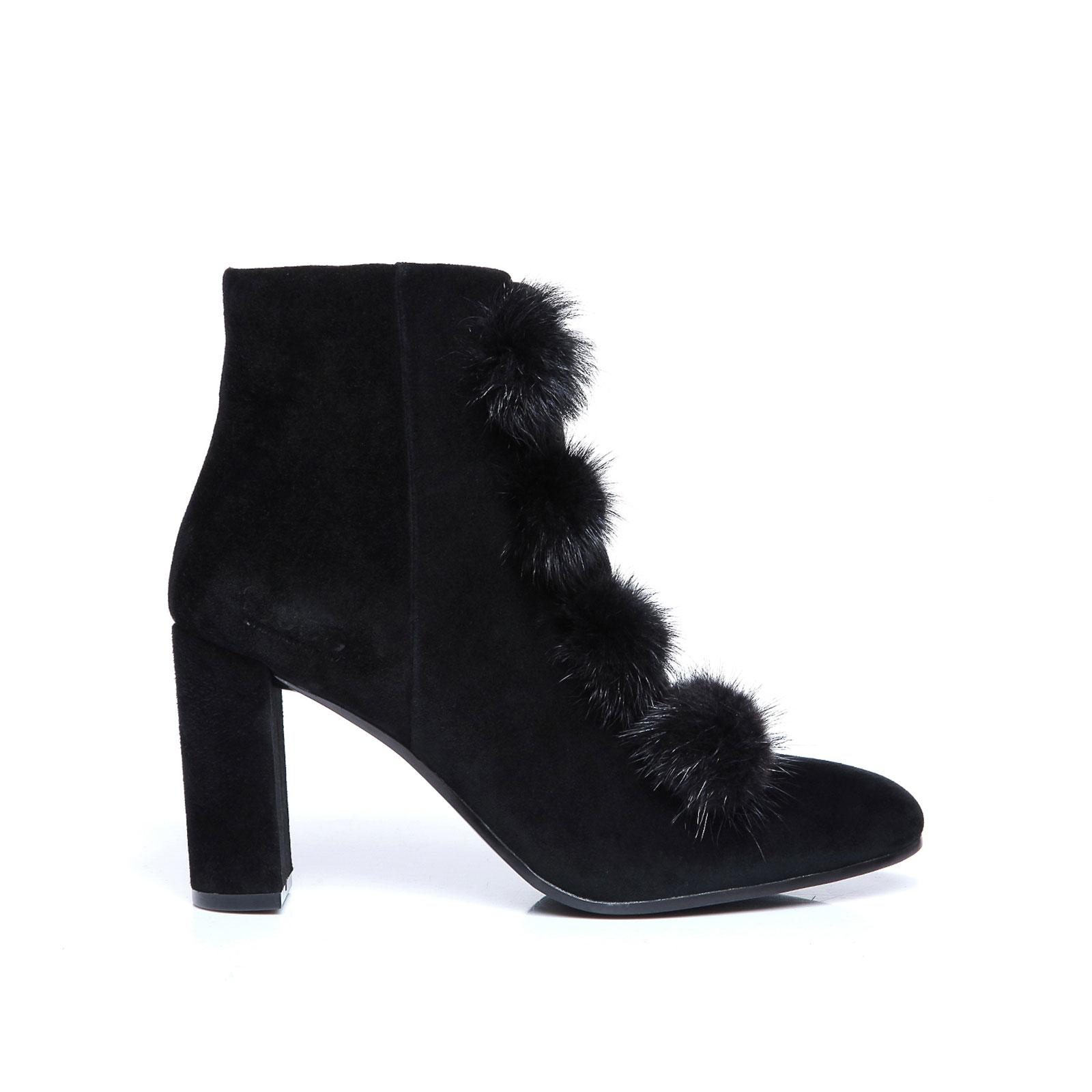 Image is loading UGG-Boots-Michelle-Ladies-High-Heel-Kid-Suede-