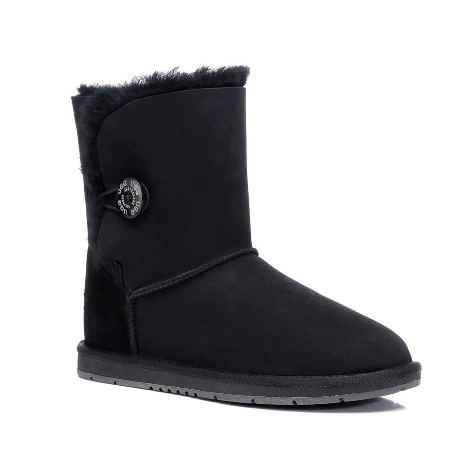 Ugg-Boots-Sheepskin-Classic-Short-Button-Australian-Ladies-