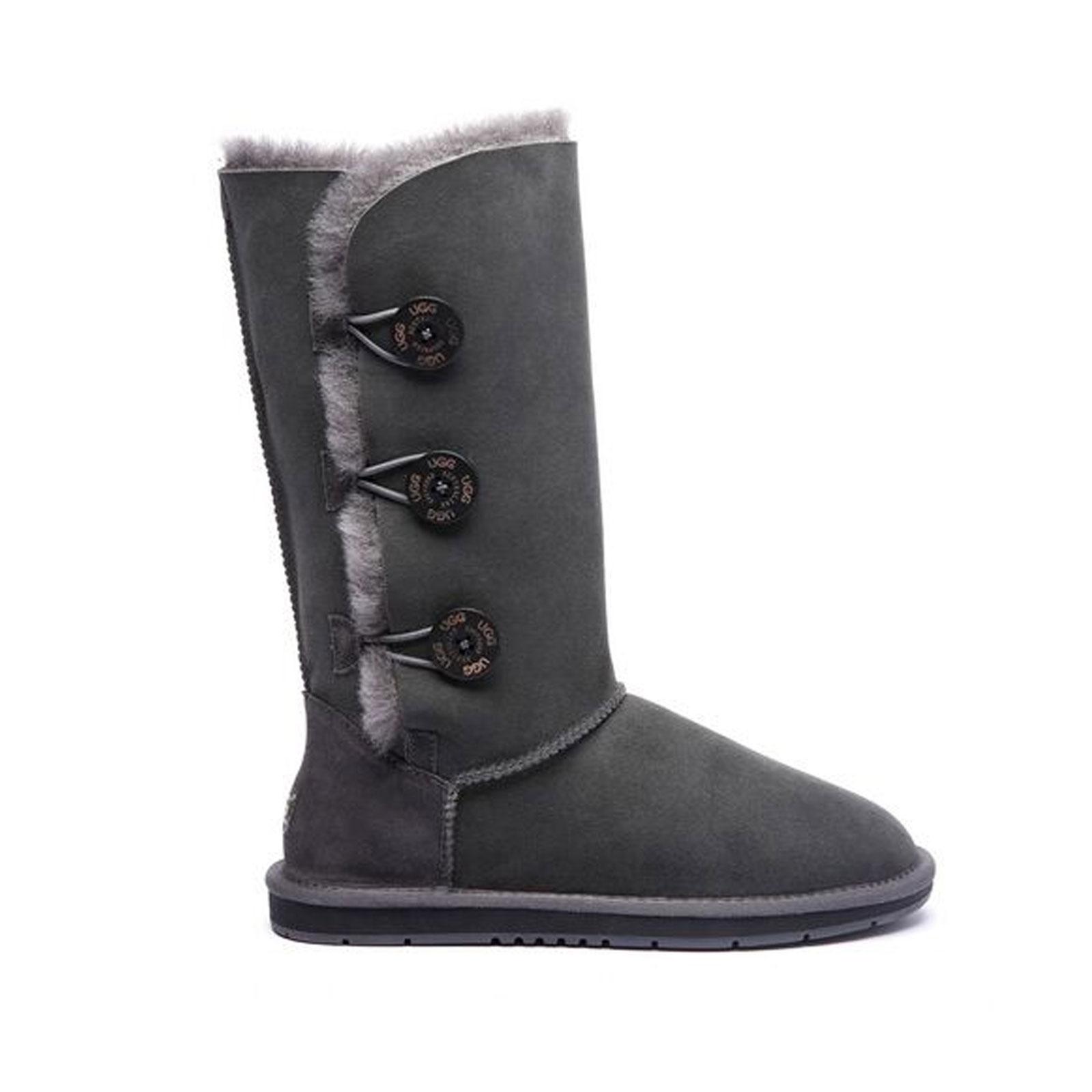 Ugg-Boots-Women-Men-Tall-Button-100-Australian-Sheepskin-Casual-Size-EU-35-44