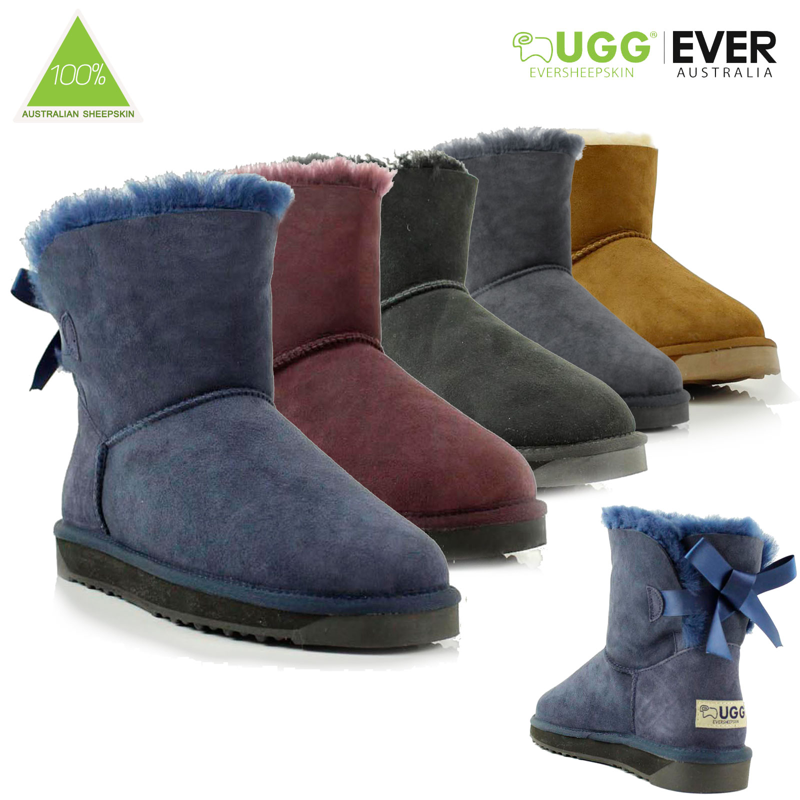 Ugg-Boots-Sheepskin-100-Australian-Wool-Ladies-Mini-