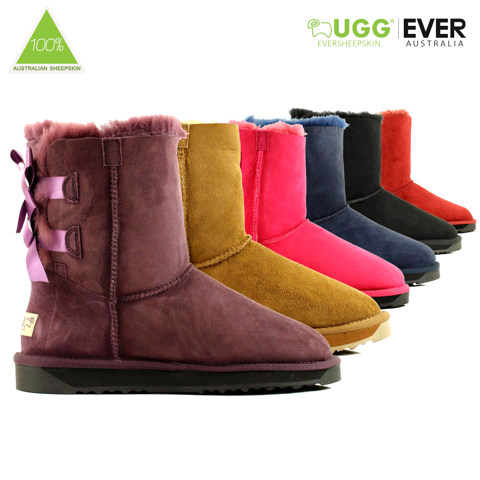 Ugg-Boots-Sheepskin-100-Australian-Wool-Ladies-Short-