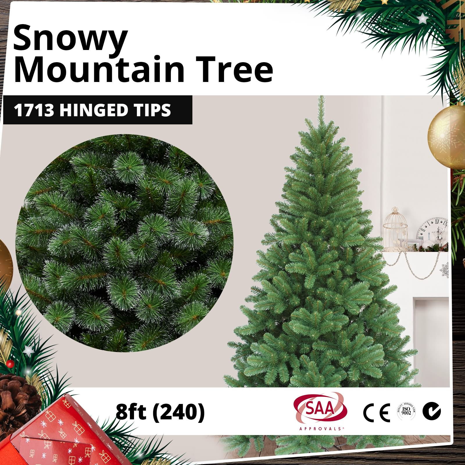 Details About Christmas Tree Xmas Tree Huge Deluxe Tuscan Spruce 240cm 8ft W O Led Lights