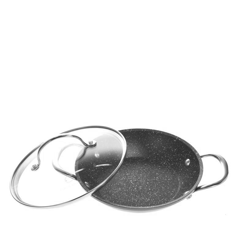 Curtis-Stone-Dura-Pan-Nonstick-8-034-and-12-034-Sauteuse-Pans-Model-611-660