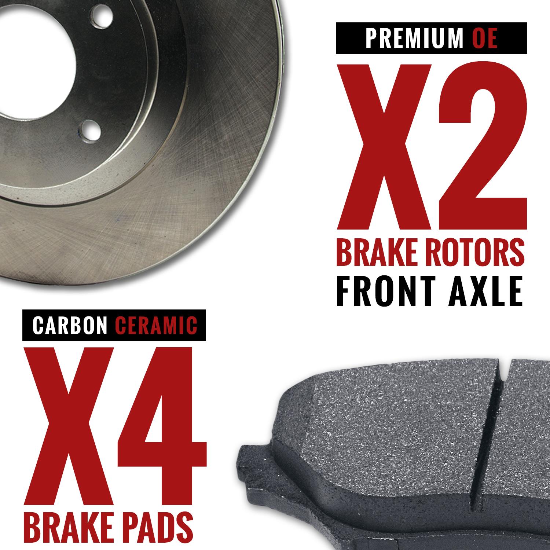 Front-Rotors-w-Ceramic-Pads-OE-Brakes-2009-2010-2011-2012-2013-Pilot