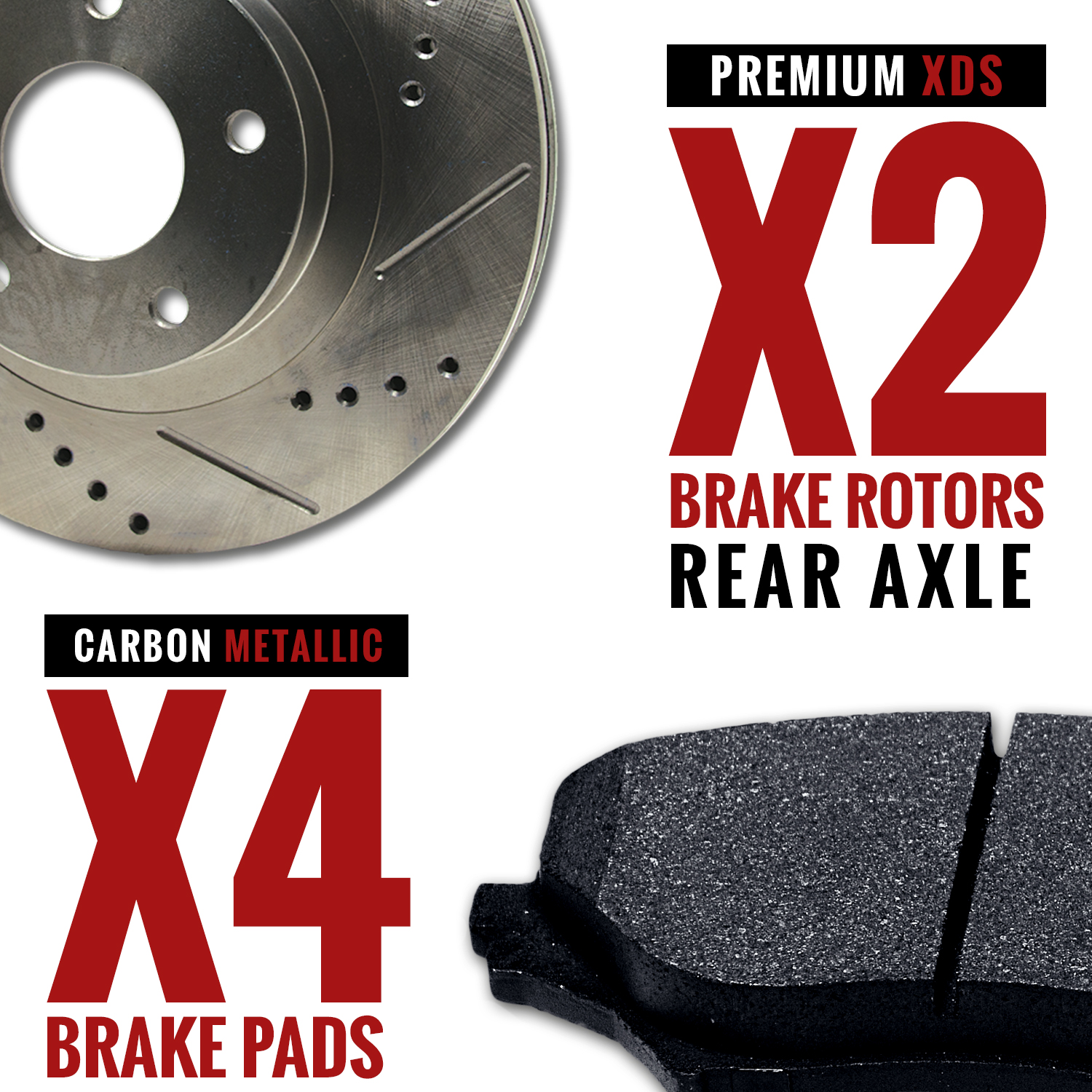 2010-2011-2012-2013-Cadillac-SRX-Slotted-Drilled-Rotors-Metallic-Pads-R thumbnail 3