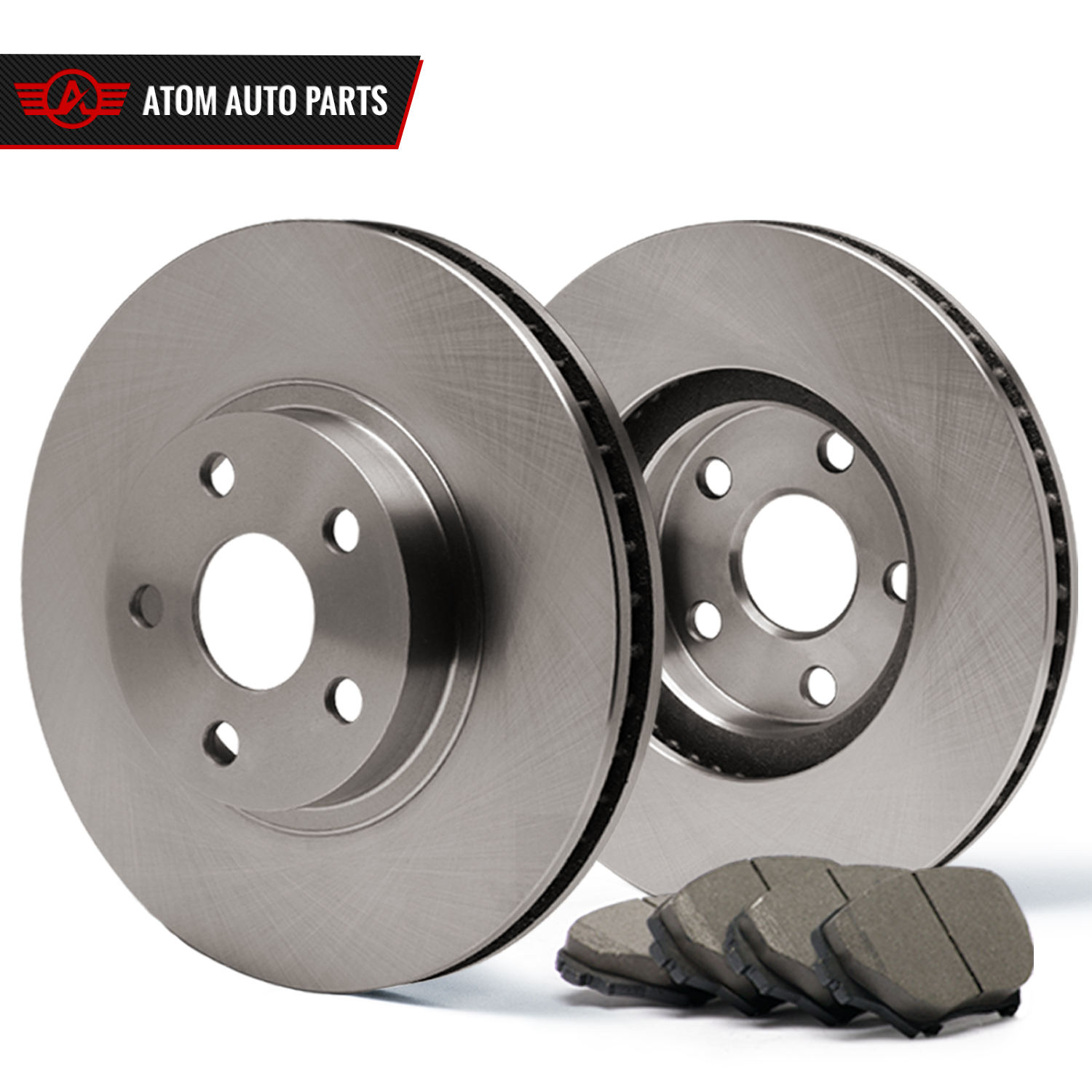 Rear-Rotors-w-Ceramic-Pads-OE-Brakes-2003-2004-2005-E320-E500-2006-E350
