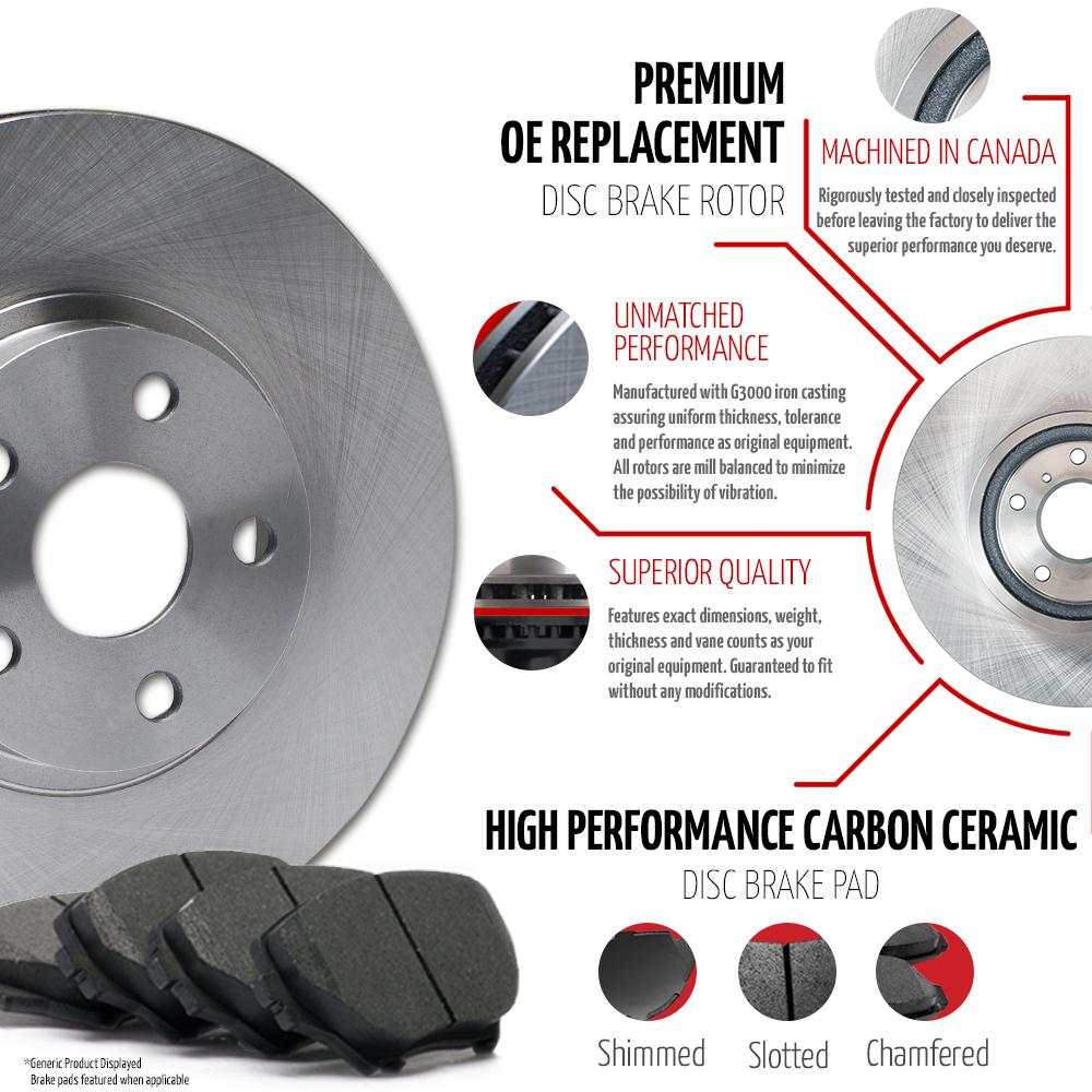 2008-2009-2010-Dodge-Grand-Caravan-OE-Replacement-Rotors-Ceramic-Pads-F-R